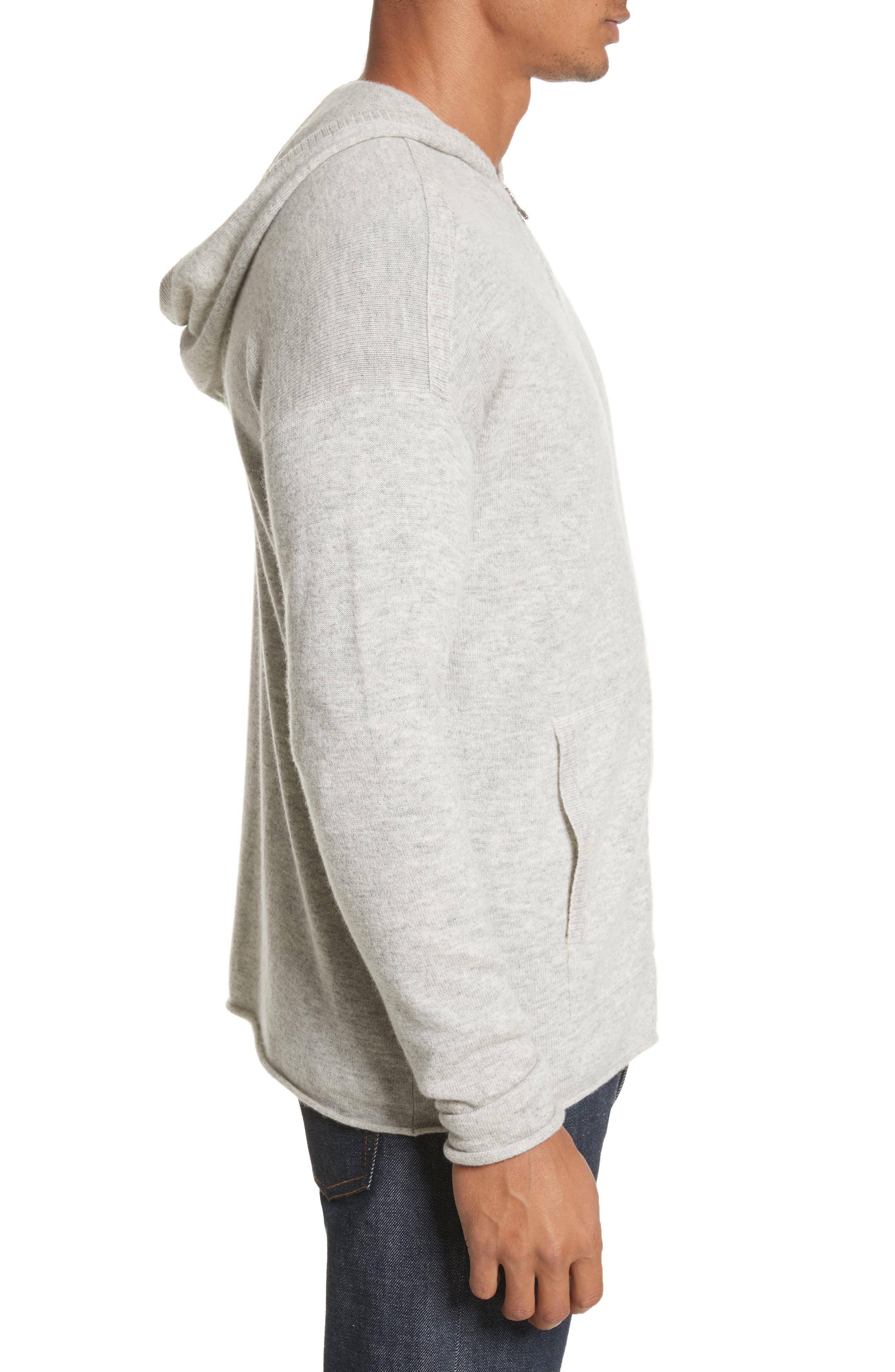 Wool & Cashmere Zip Hoodie,                             Alternate thumbnail 3, color,                             054
