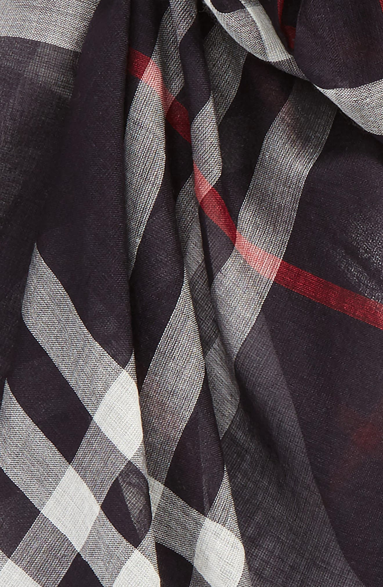 Giant Check Print Wool & Silk Scarf,                             Alternate thumbnail 144, color,