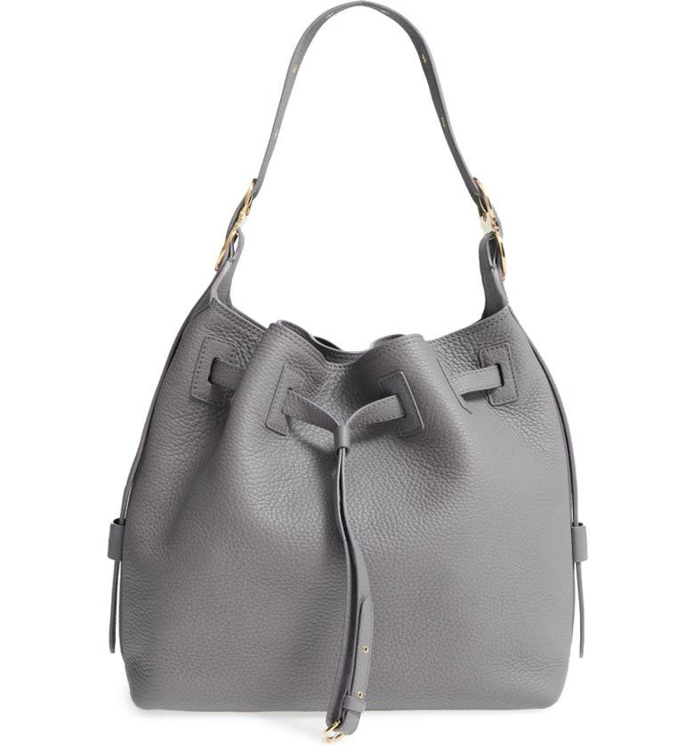 Salvatore Ferragamo Pebbled Leather Drawstring Bucket Bag  37790e1d2e307
