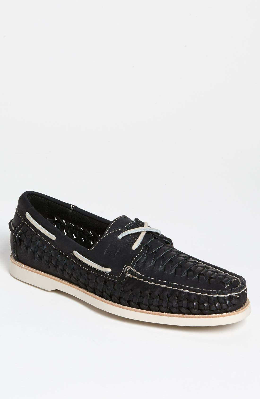 SPERRY,                             Top-Sider<sup>®</sup> 'Seaside' Woven Boat Shoe,                             Main thumbnail 1, color,                             001