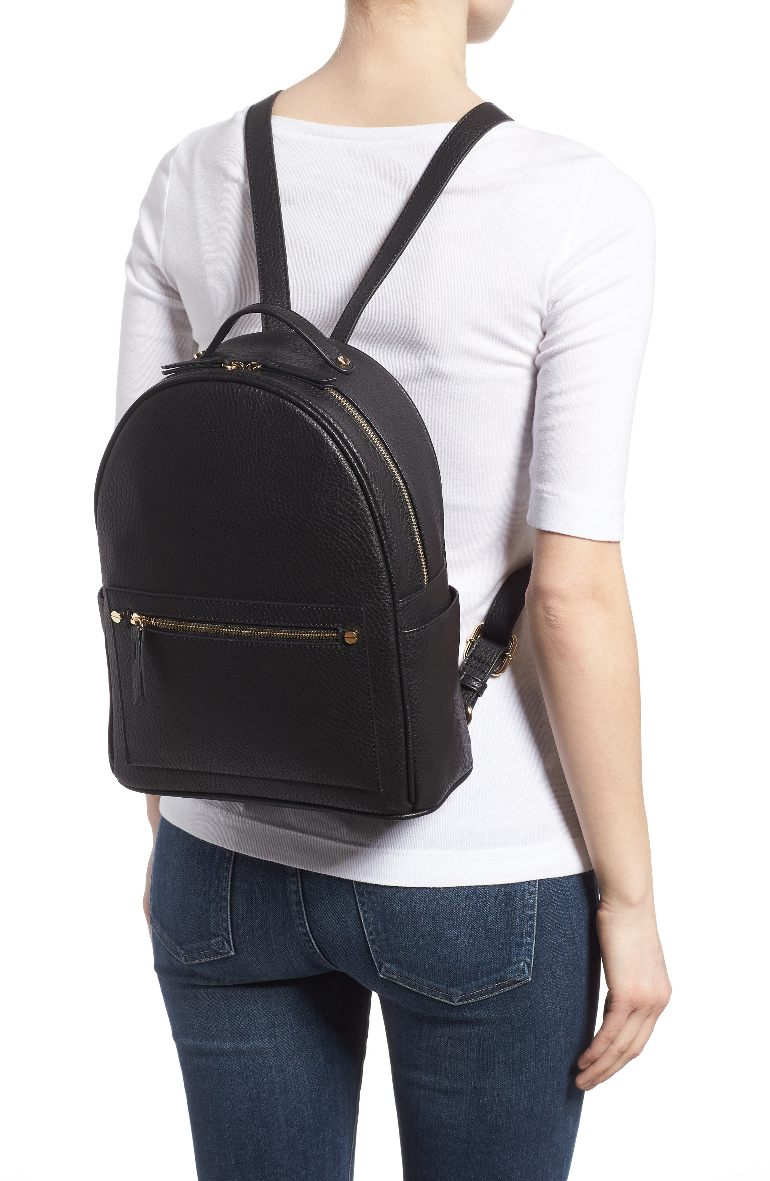 Mali + Lili Madison Vegan Leather Backpack,                             Alternate thumbnail 4, color,
