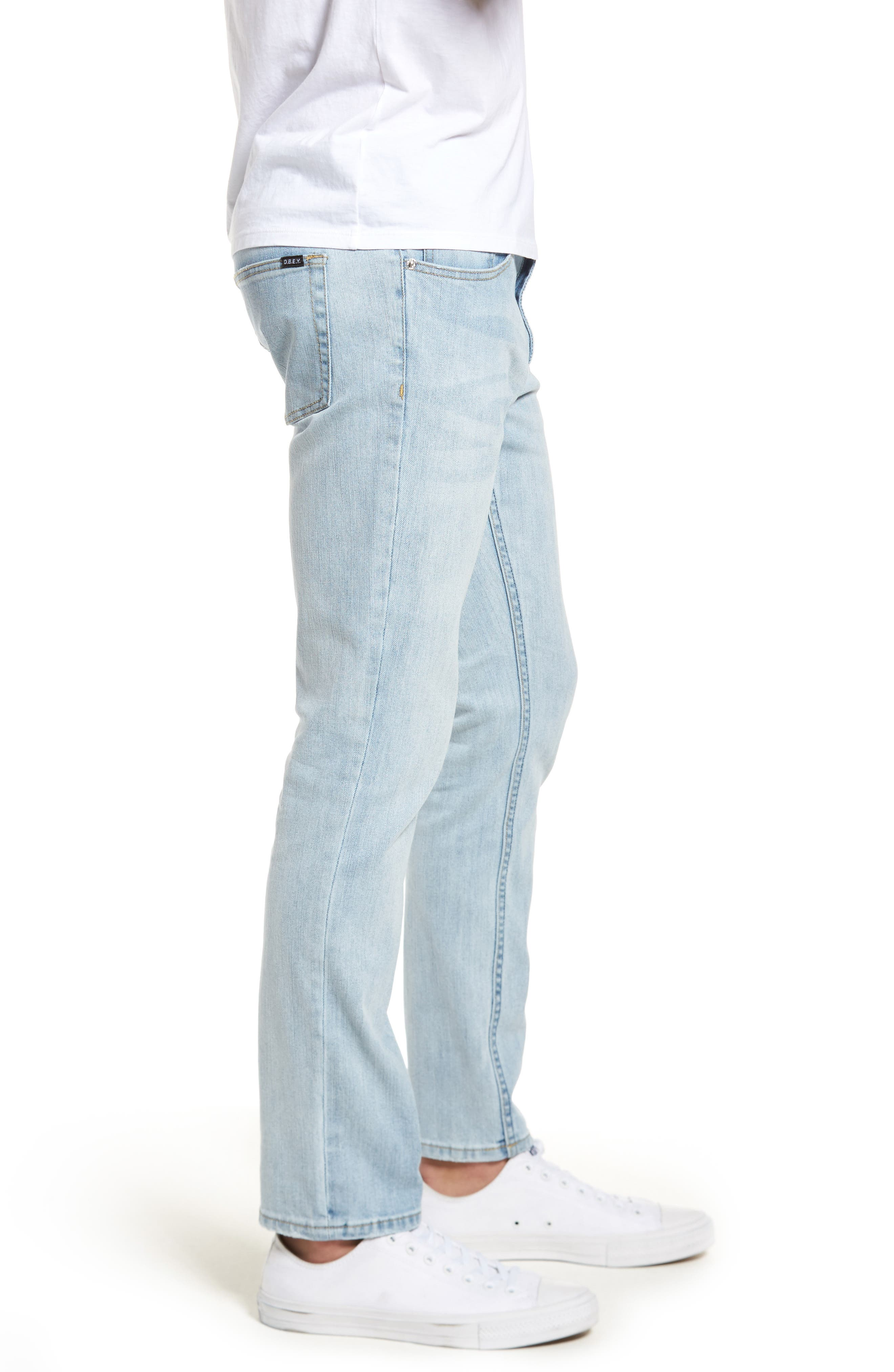 Juvee II Skinny Fit Jeans,                             Alternate thumbnail 3, color,                             400