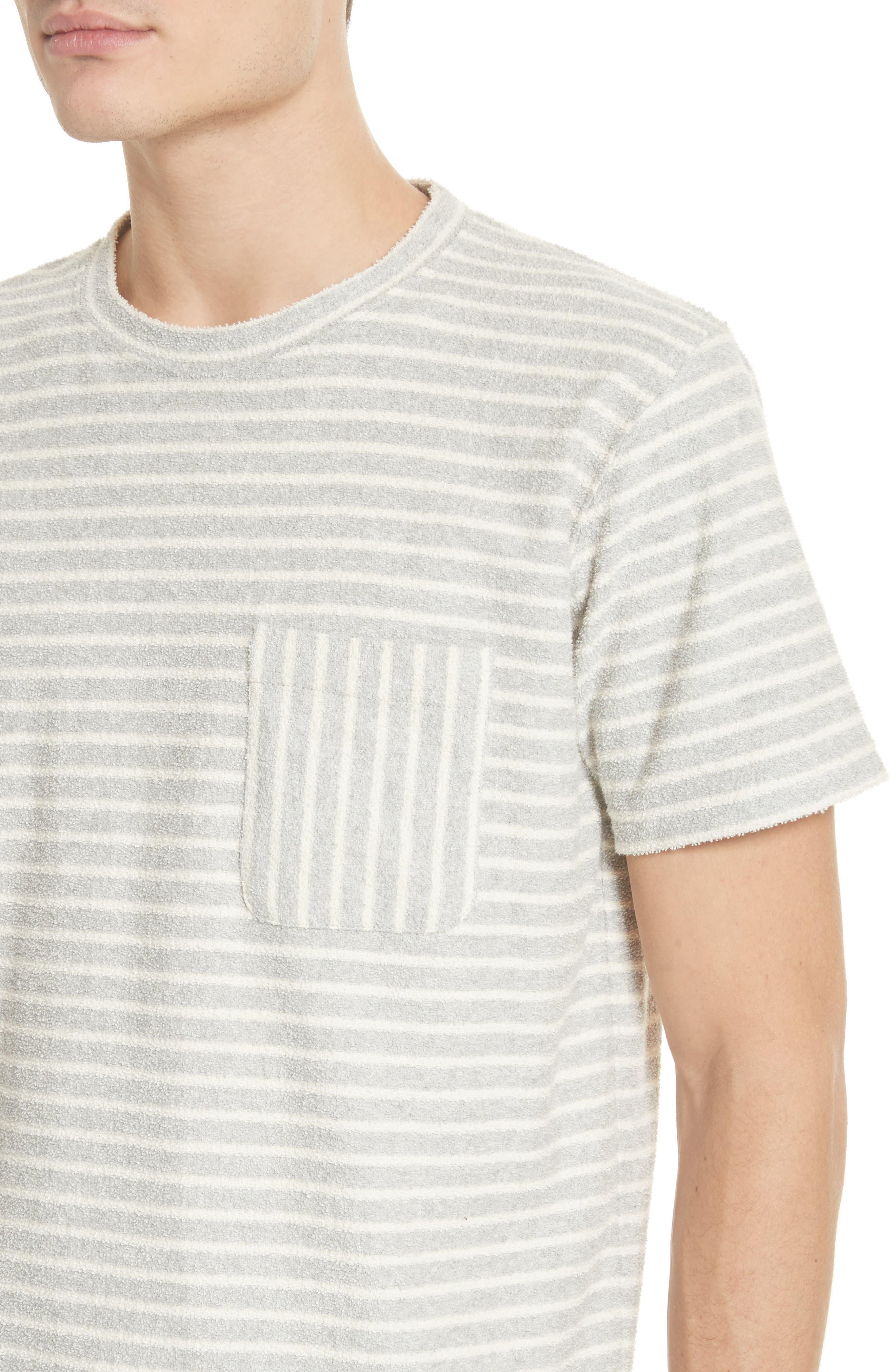 Niels Stripe Pocket T-Shirt,                             Alternate thumbnail 4, color,                             050
