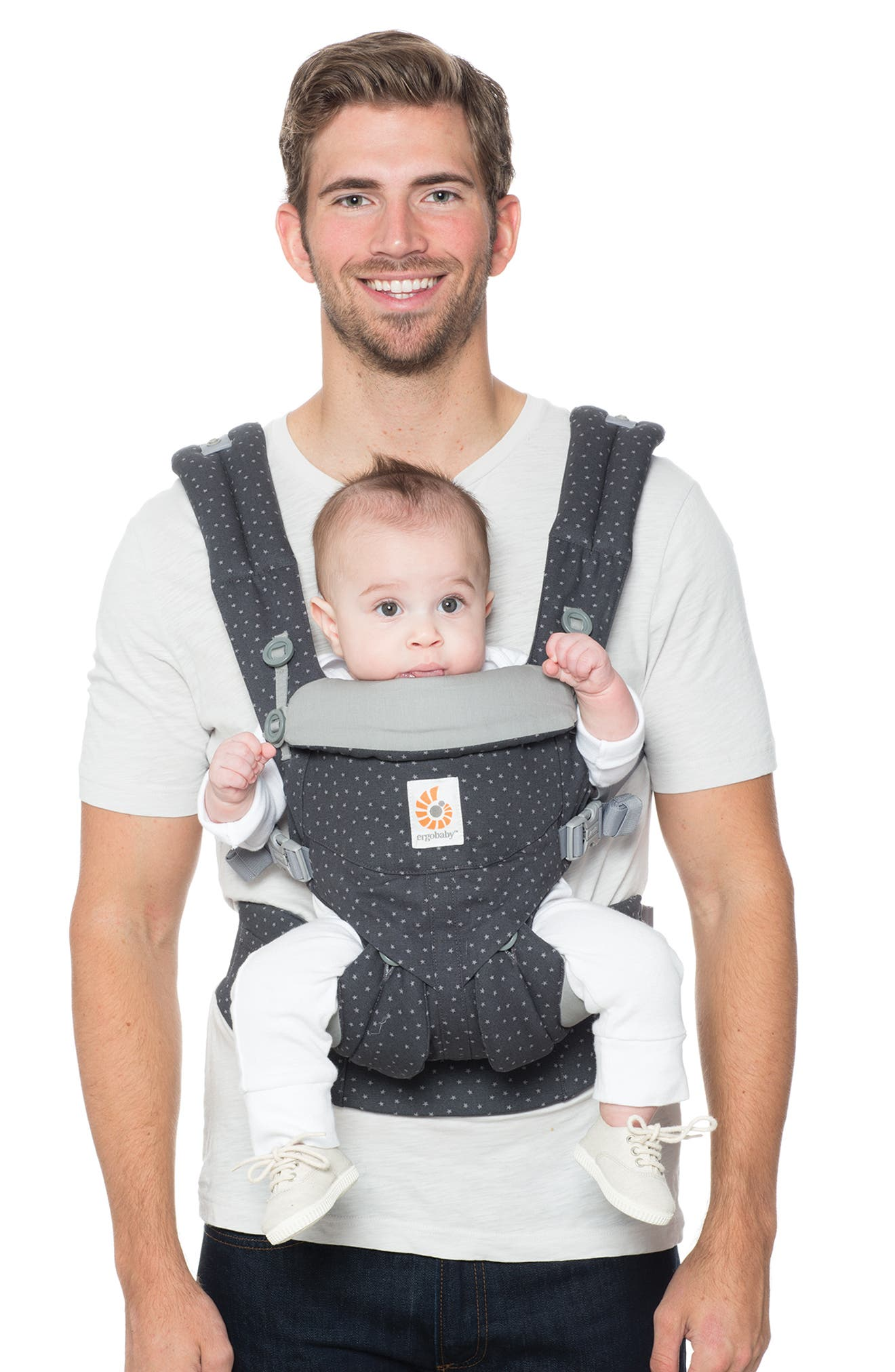 Omni 360 Baby Carrier,                             Alternate thumbnail 2, color,                             GREY WITH STARS