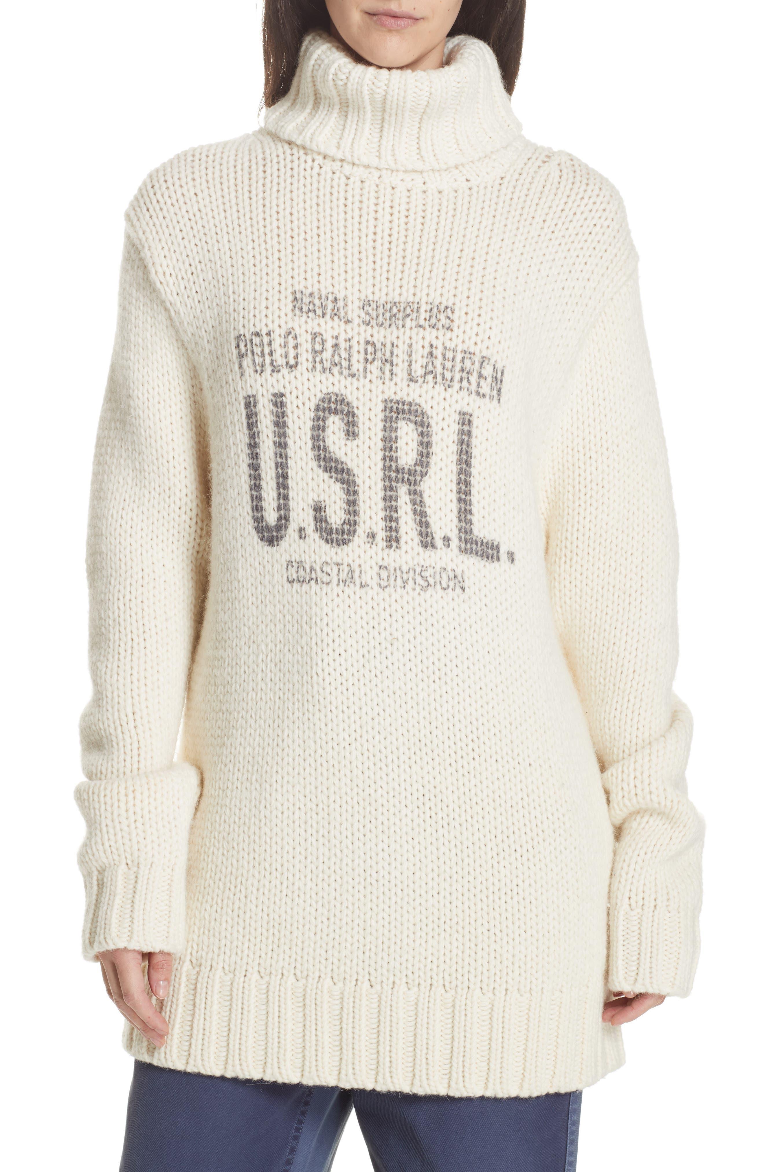Logo Graphic Turtleneck Sweater,                         Main,                         color, 900