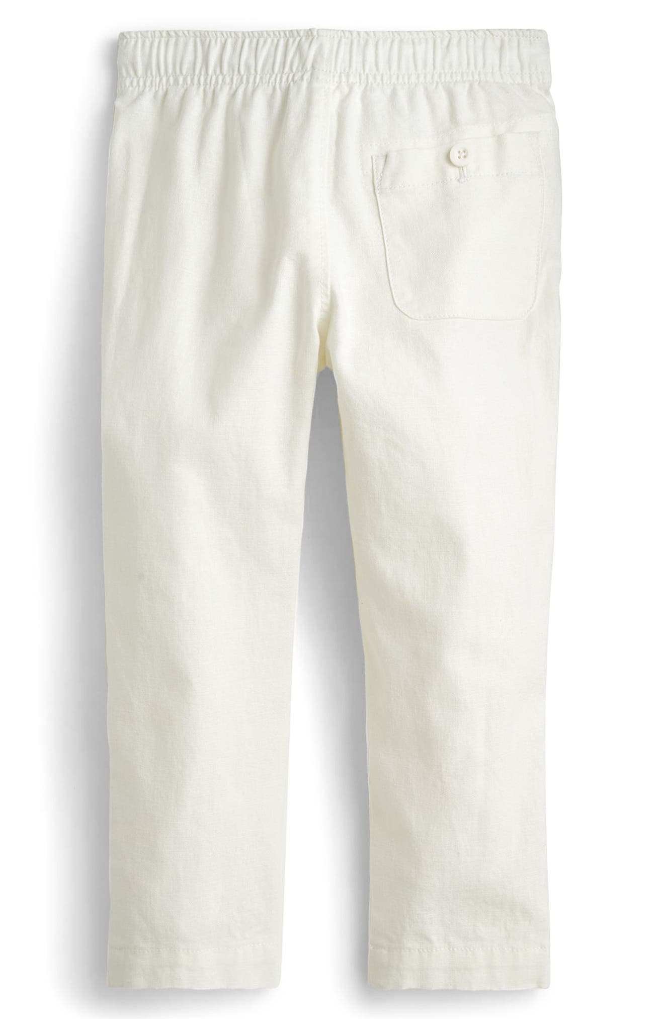 Pull-On Linen & Cotton Pants,                             Alternate thumbnail 2, color,                             100