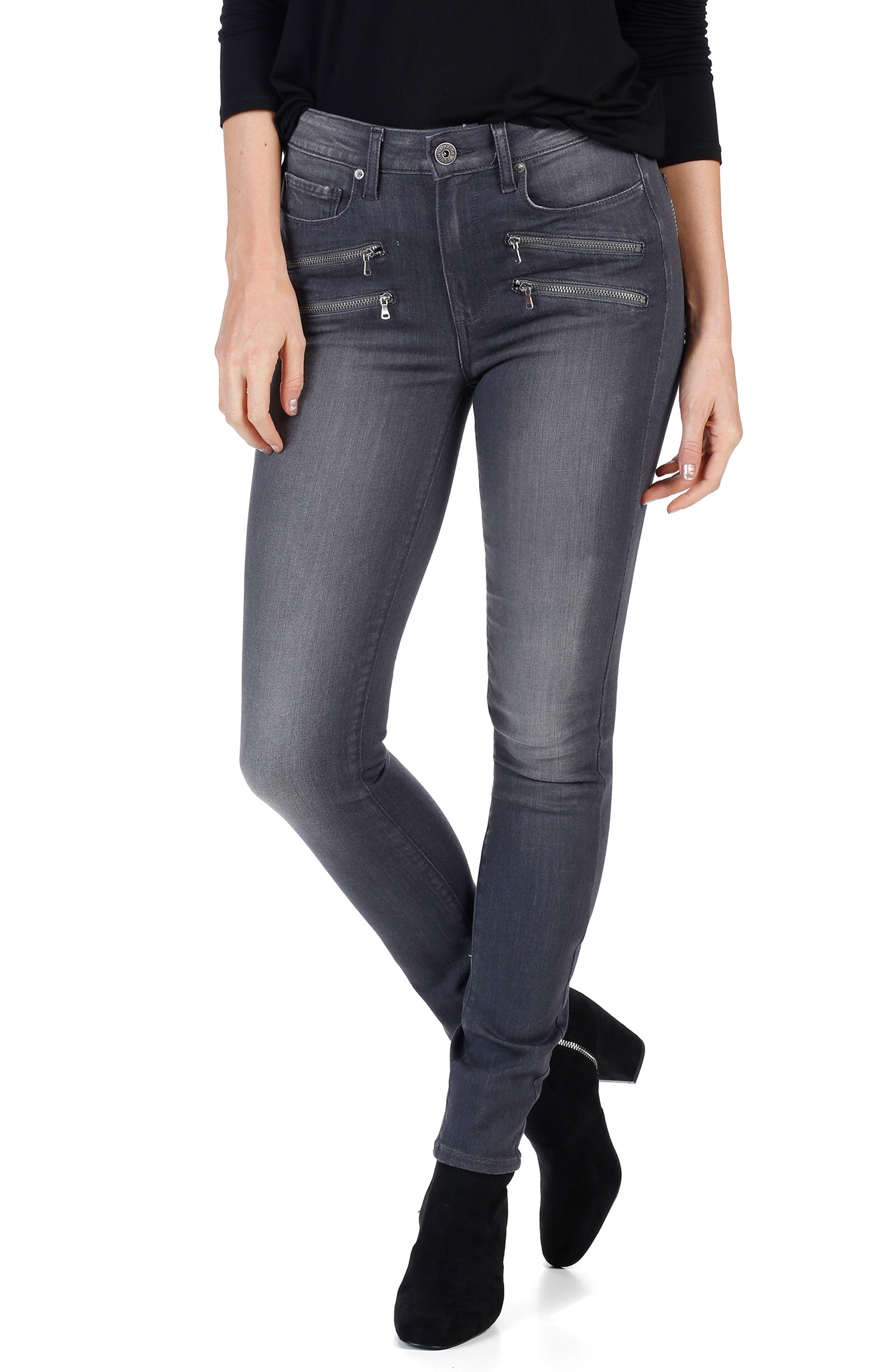Transcend - Edgemont High Waist Skinny Jeans,                             Main thumbnail 1, color,                             020