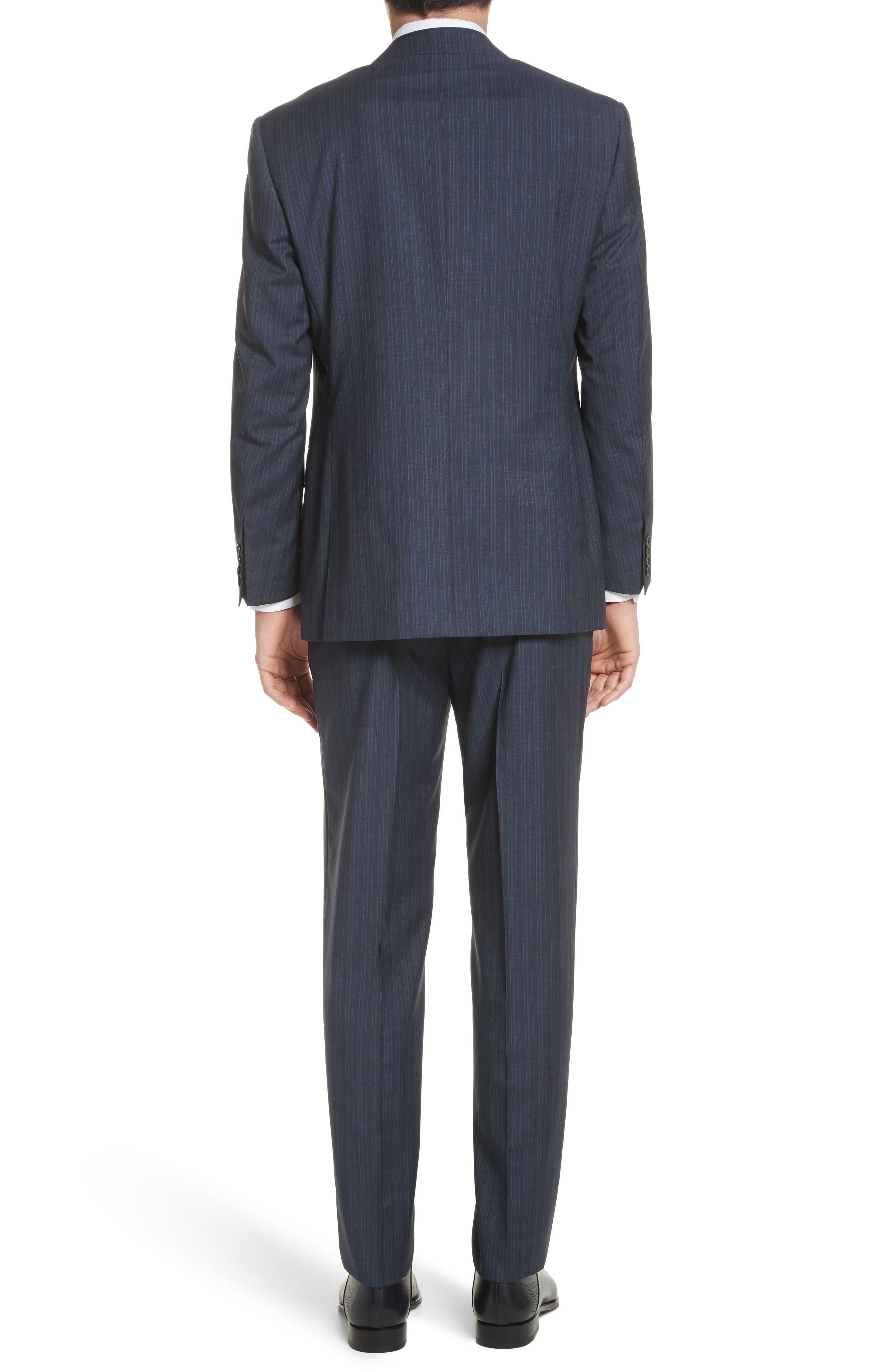 Classic Fit Stripe Wool Suit,                             Alternate thumbnail 2, color,