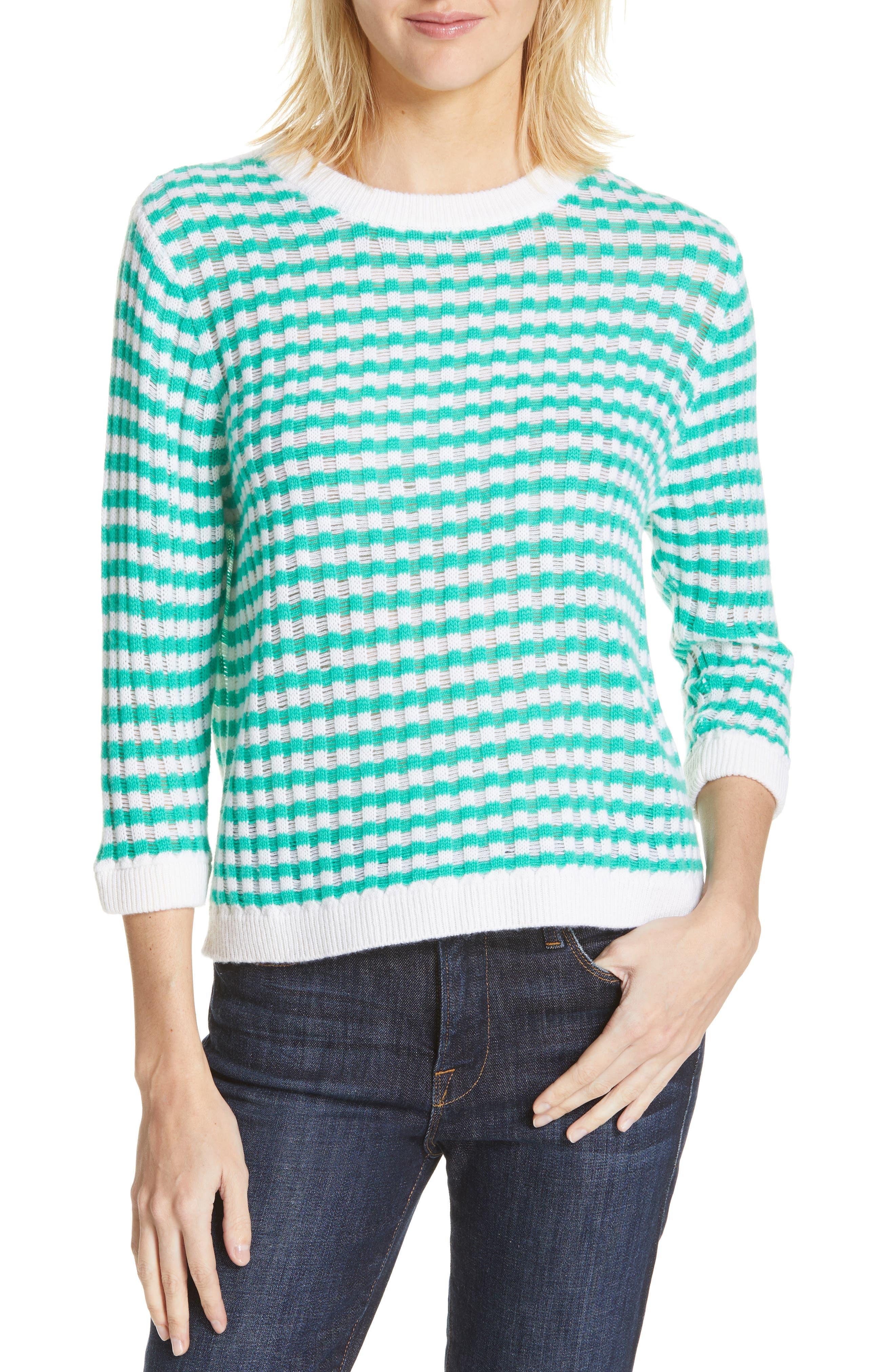 Allude Stripe Wool & Cashmere Sweater