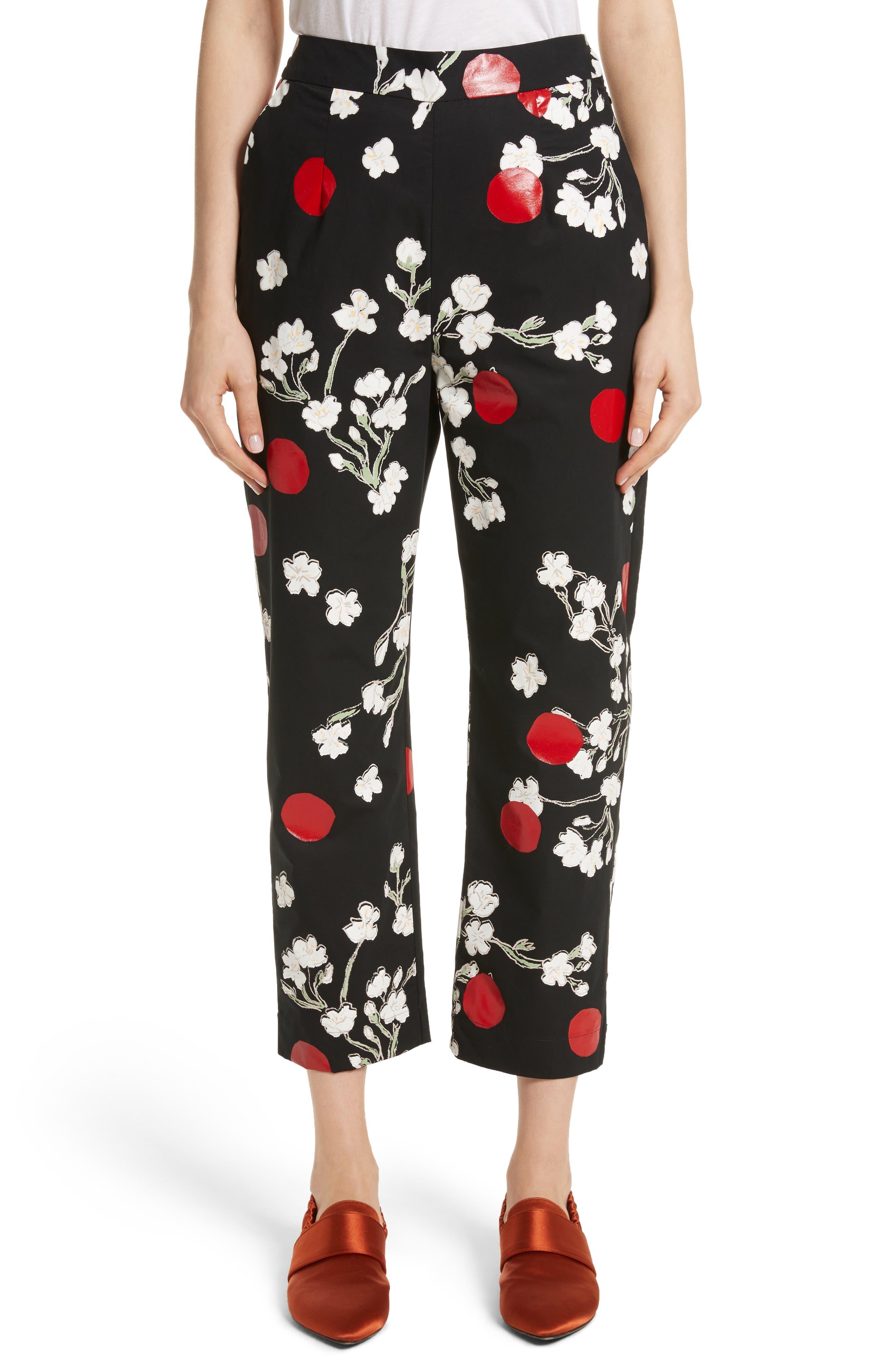 Classic Pantalone Crop Pants,                         Main,                         color, 001