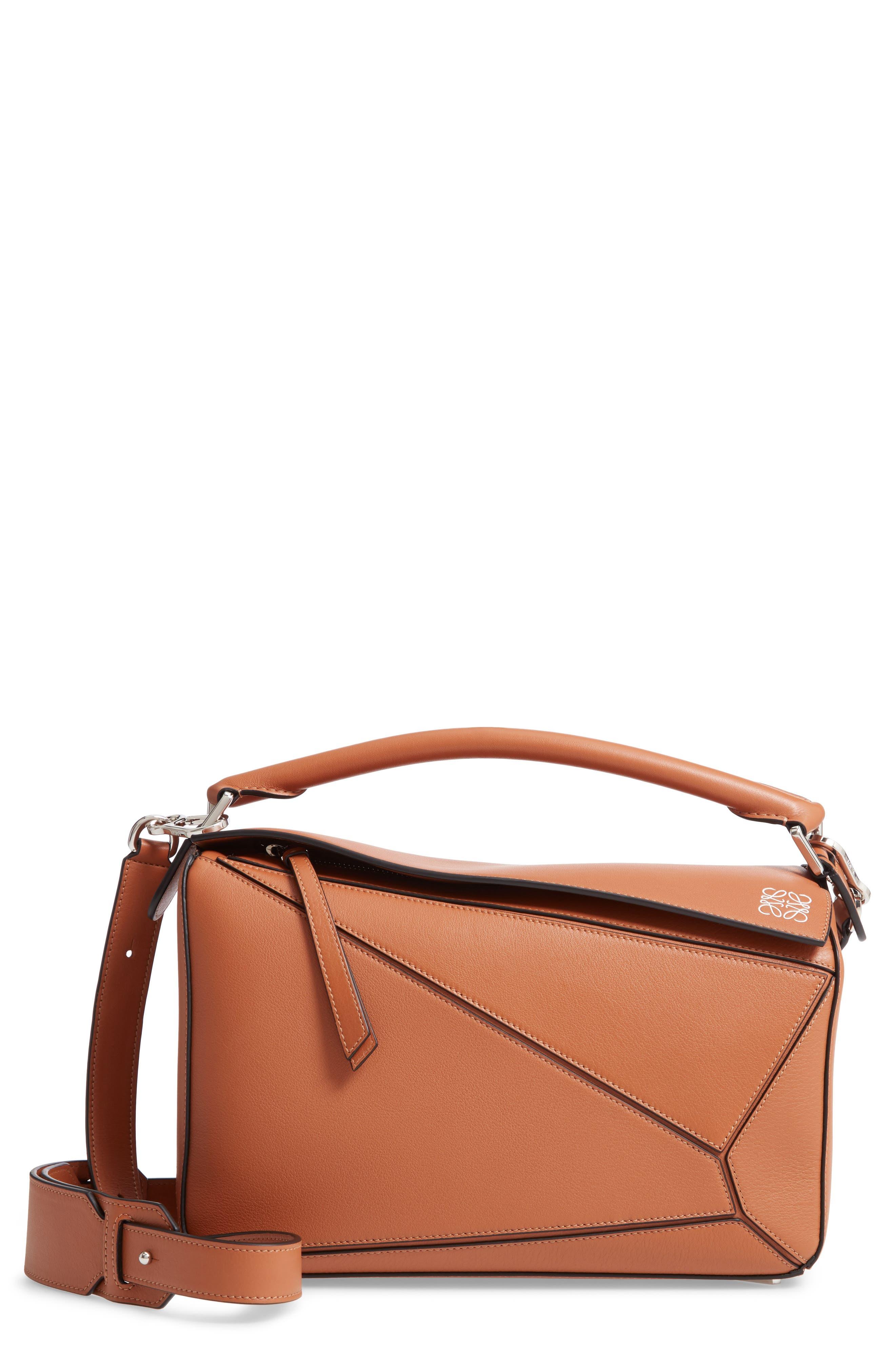 Medium Puzzle Bag,                         Main,                         color, TAN