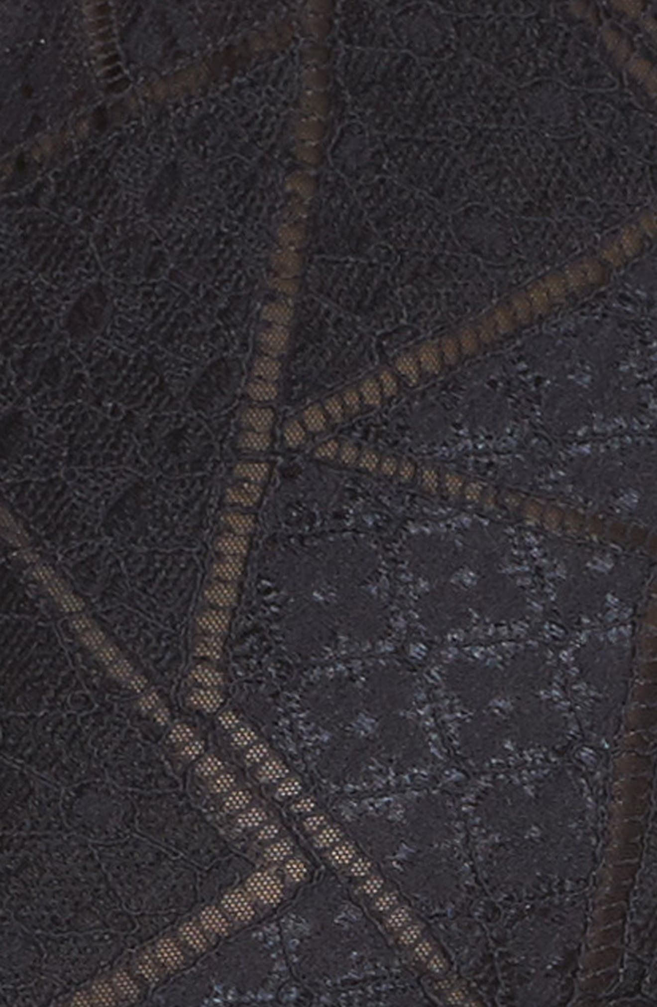 Intimately FP Moonstruck Lace Longline Halter Bralette,                             Alternate thumbnail 4, color,                             001