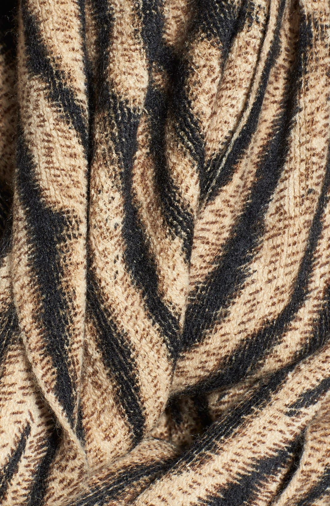 'Beobob' Tiger Print Infinity Scarf,                             Alternate thumbnail 2, color,                             200
