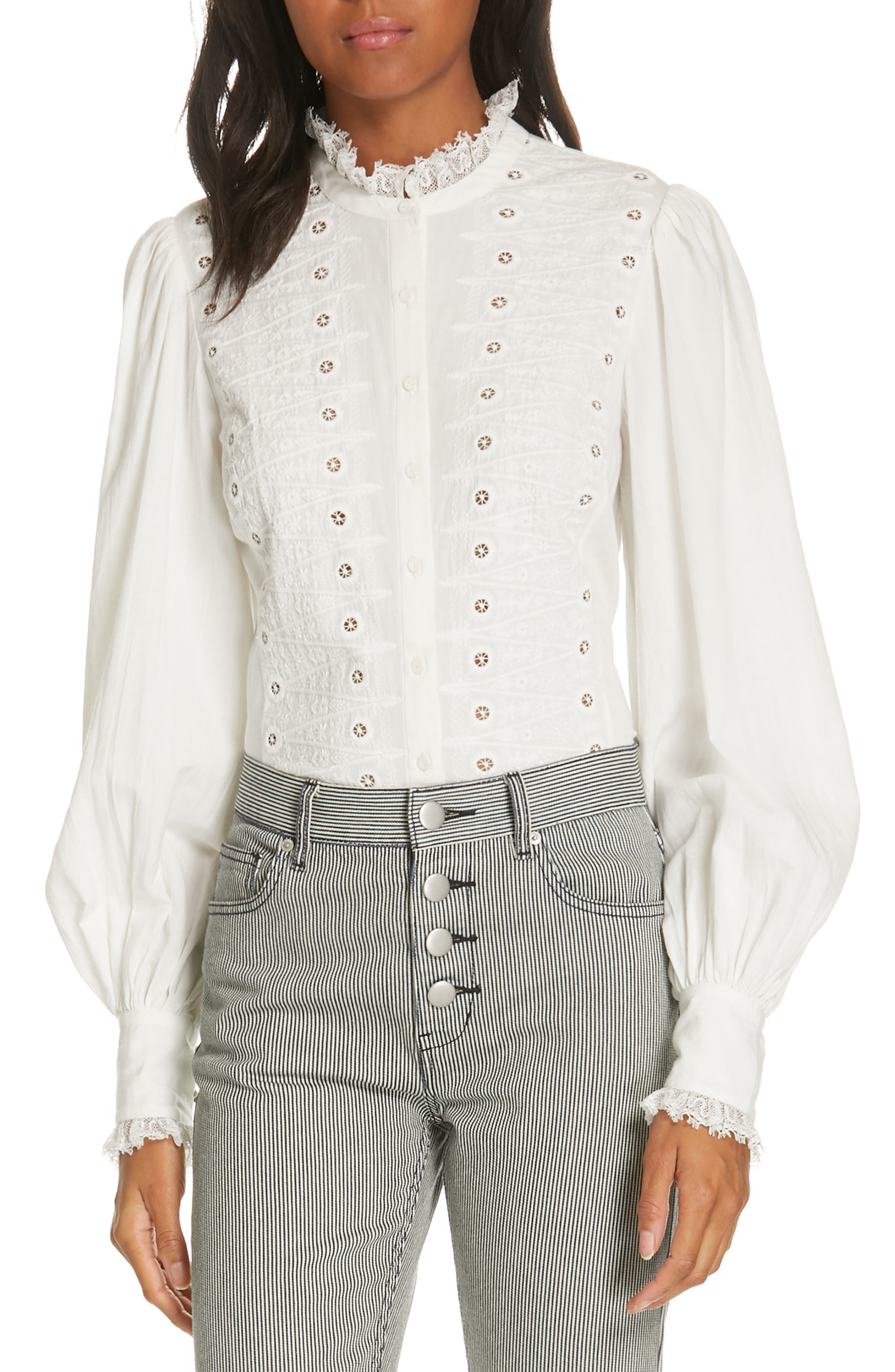 1900-1910s Clothing Womens Joie Bobette Blouse $91.20 AT vintagedancer.com