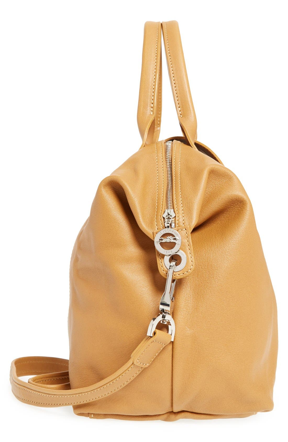 Medium 'Le Pliage Cuir' Leather Top Handle Tote,                             Alternate thumbnail 93, color,