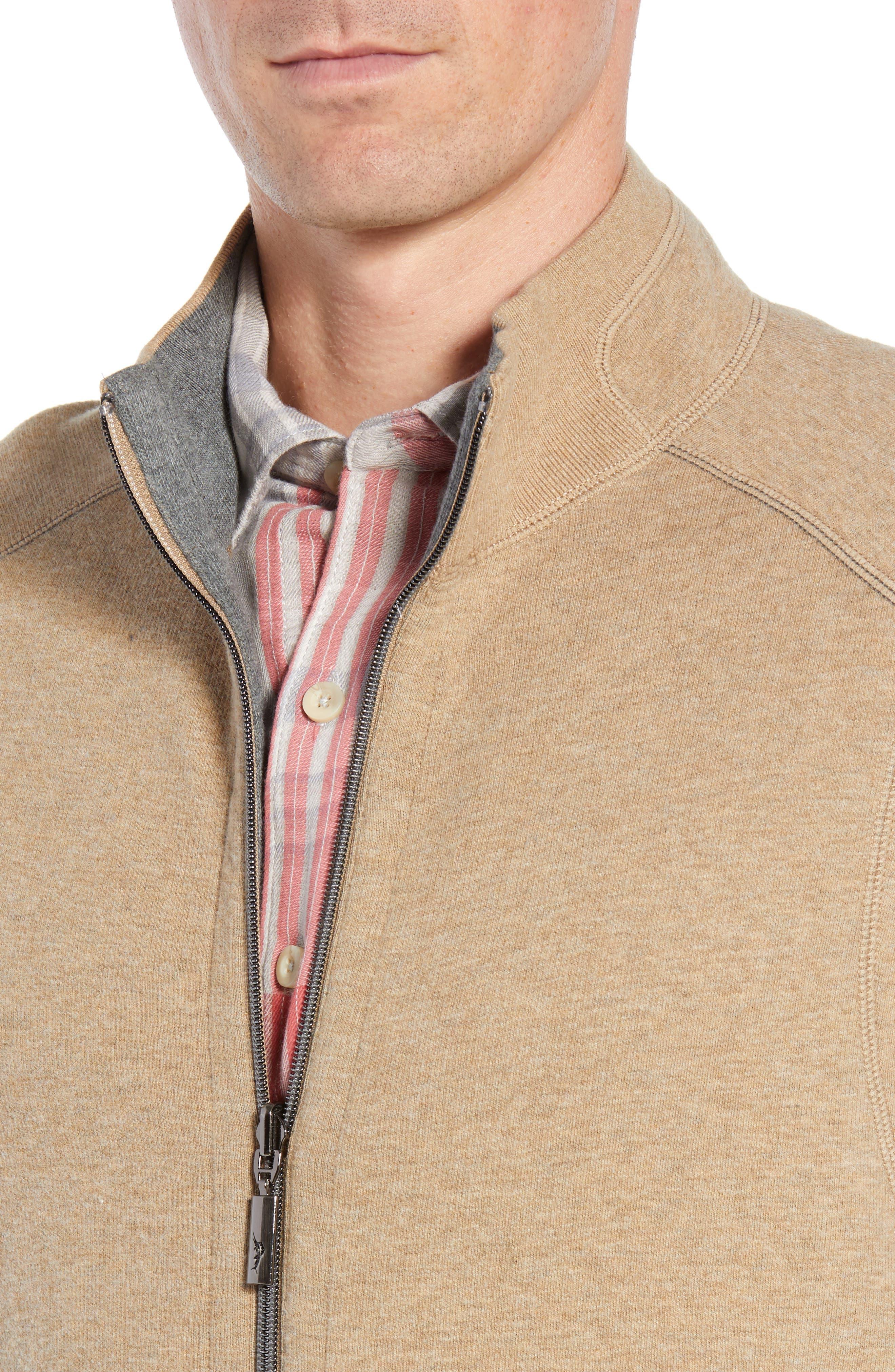 Flip Side Reversible Zip Vest,                             Alternate thumbnail 5, color,                             GOLDEN HONEY HEATHER
