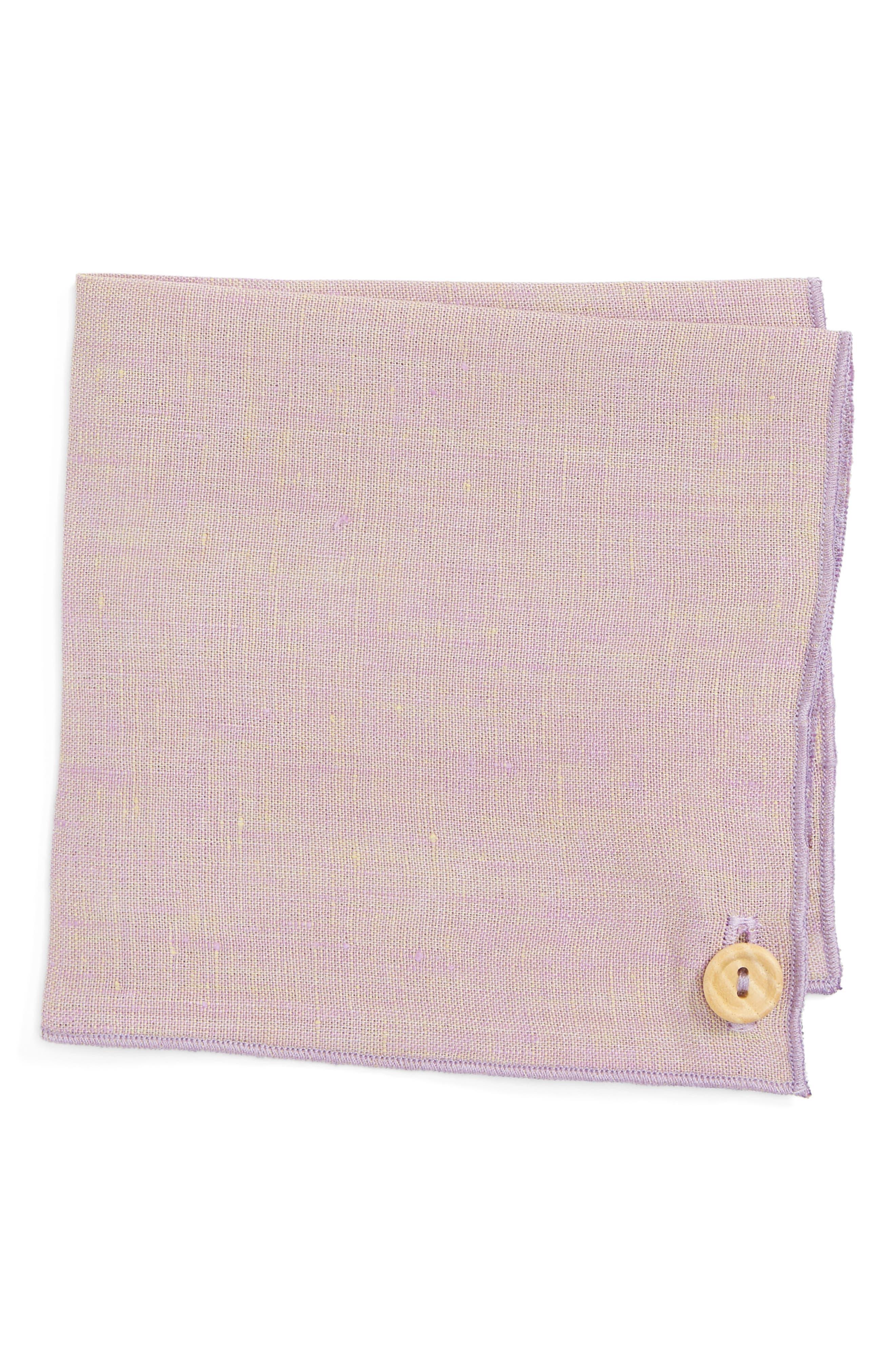 Iridescent Glass Linen Pocket Square,                             Main thumbnail 2, color,