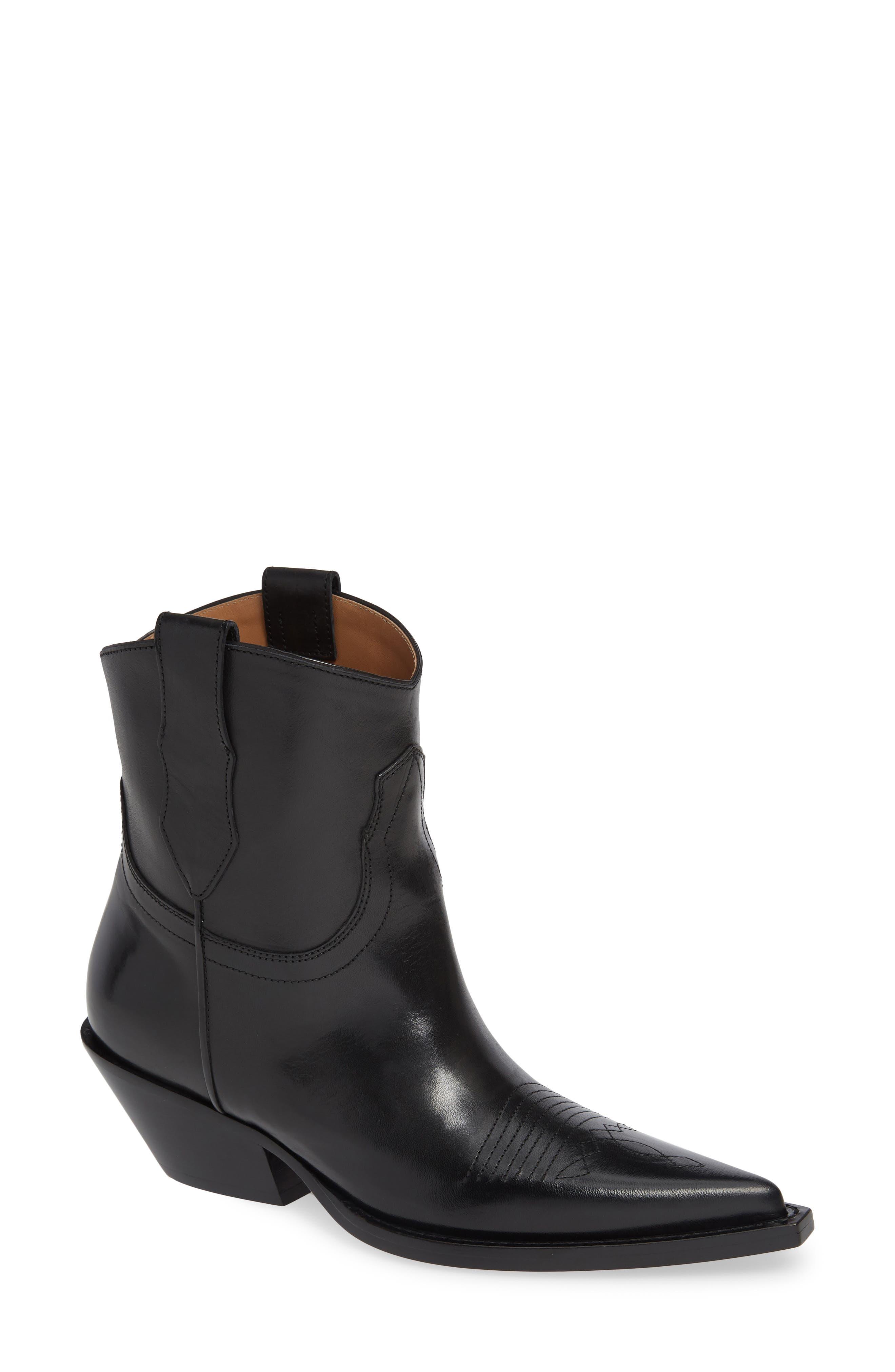 Sharon Cowboy Boot,                             Main thumbnail 1, color,                             BLACK