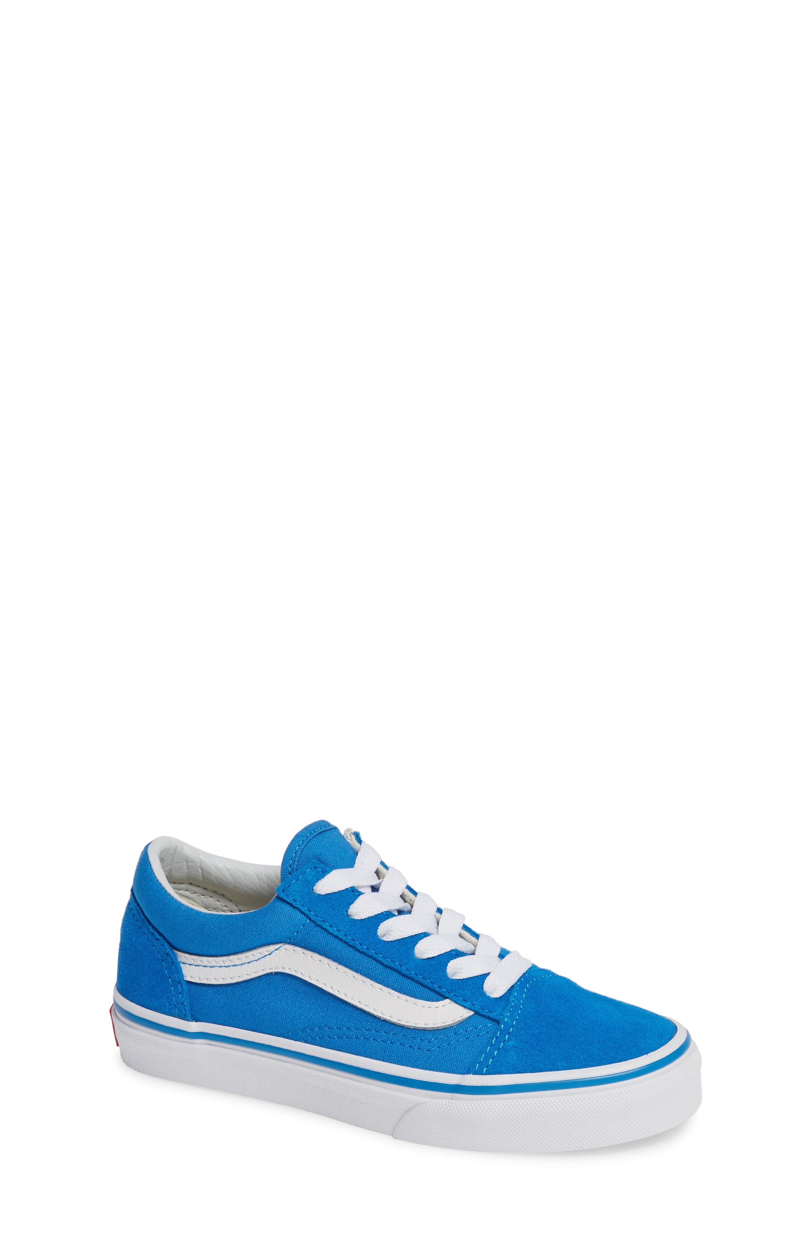 Old Skool Sneaker,                         Main,                         color, INDIGO BUNTING/ TRUE WHITE