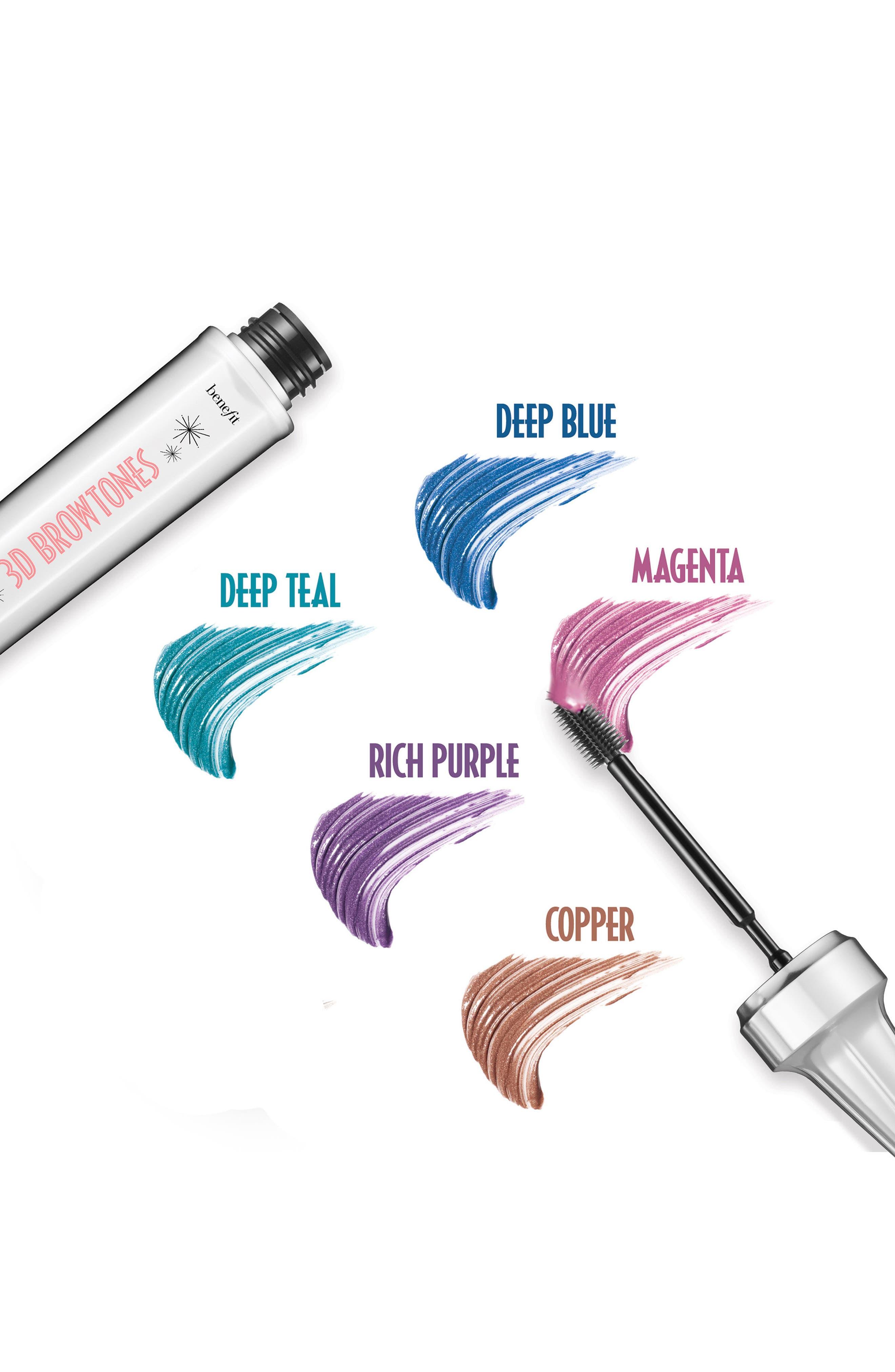 Benefit 3D BROWtones Instant Color Eyebrow Highlights,                             Alternate thumbnail 6, color,                             02 LIGHT MEDIUM
