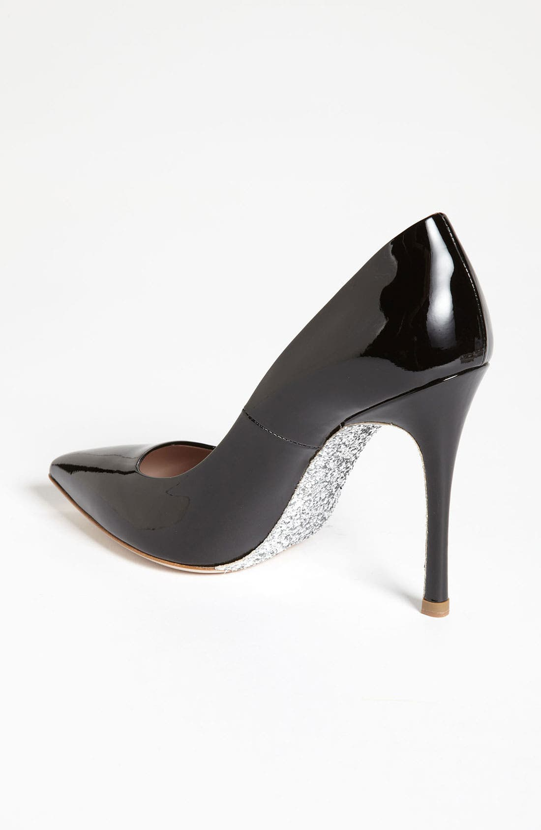 Glitter Sole Pointy Toe Pump,                             Alternate thumbnail 2, color,                             001