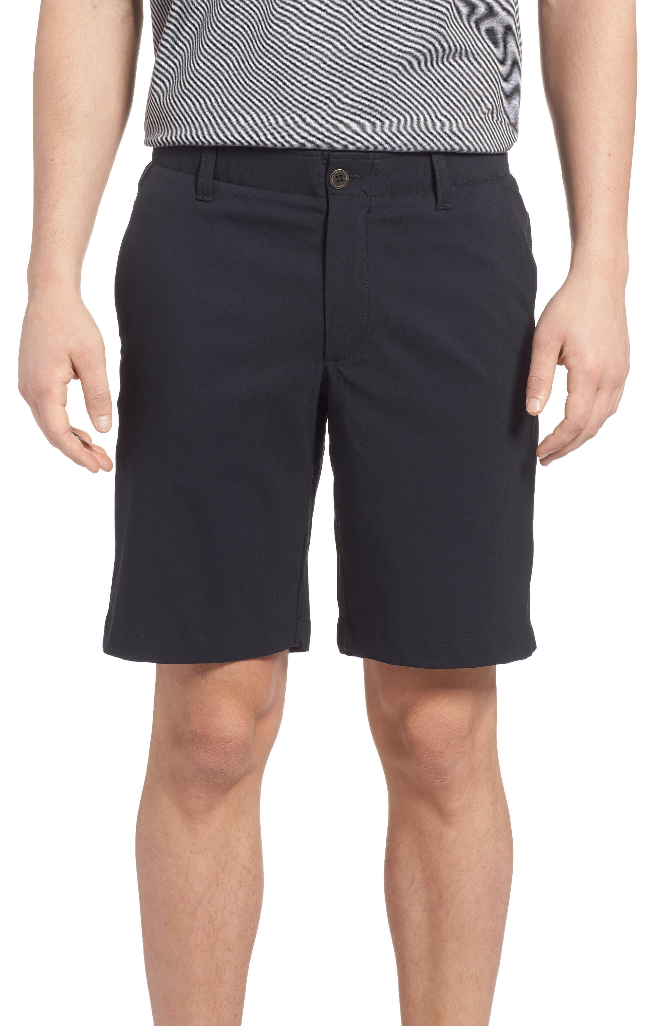 Takeover Regular Fit Golf Shorts,                         Main,                         color, BLACK