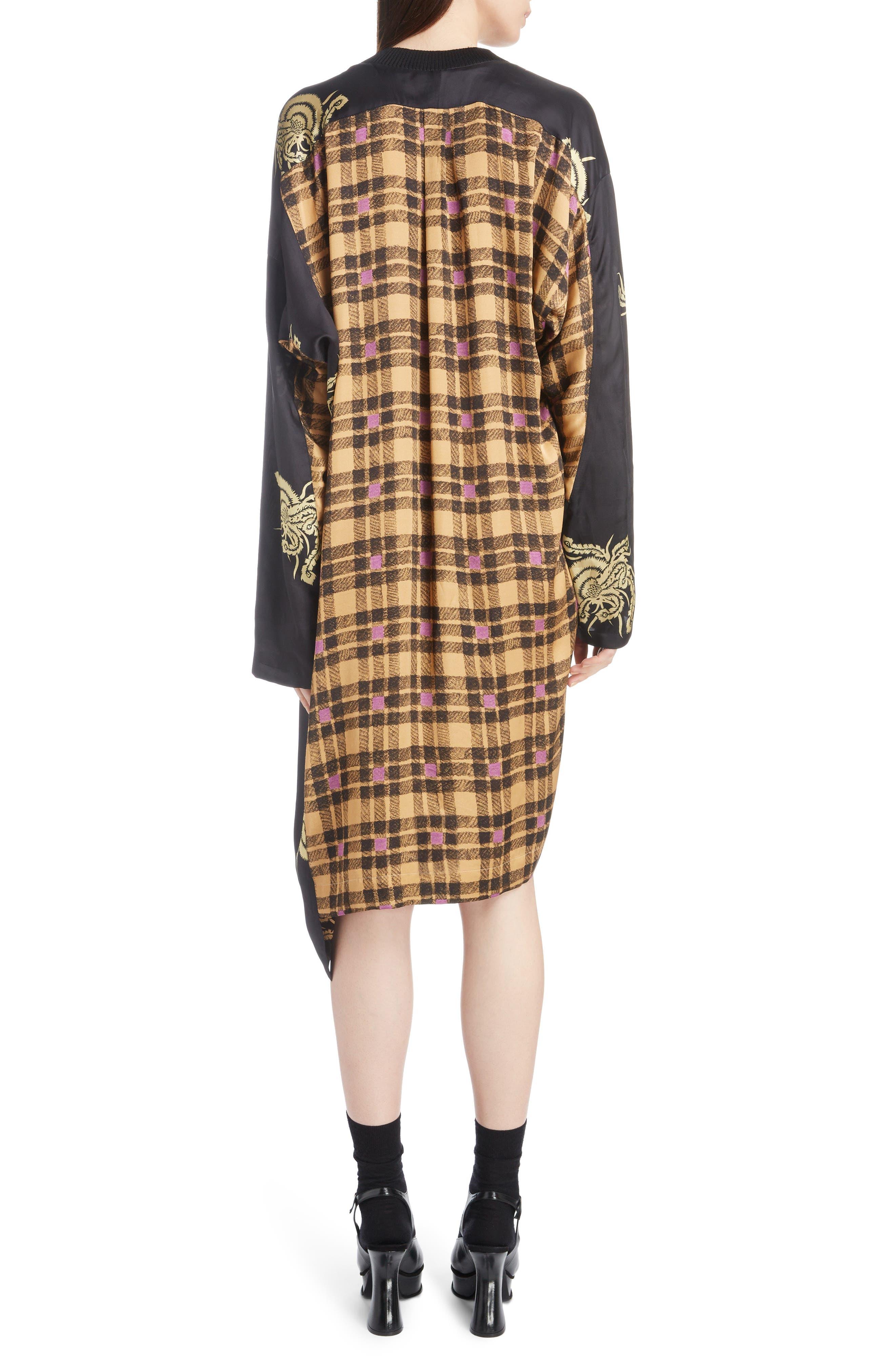 Mixed Print Dress,                             Alternate thumbnail 2, color,                             001