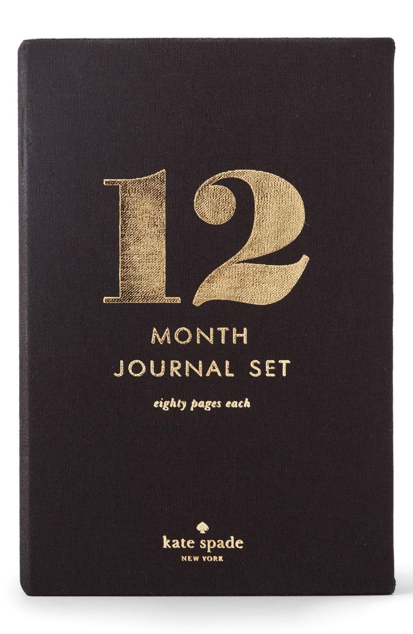 12 month journal set,                             Main thumbnail 1, color,                             001