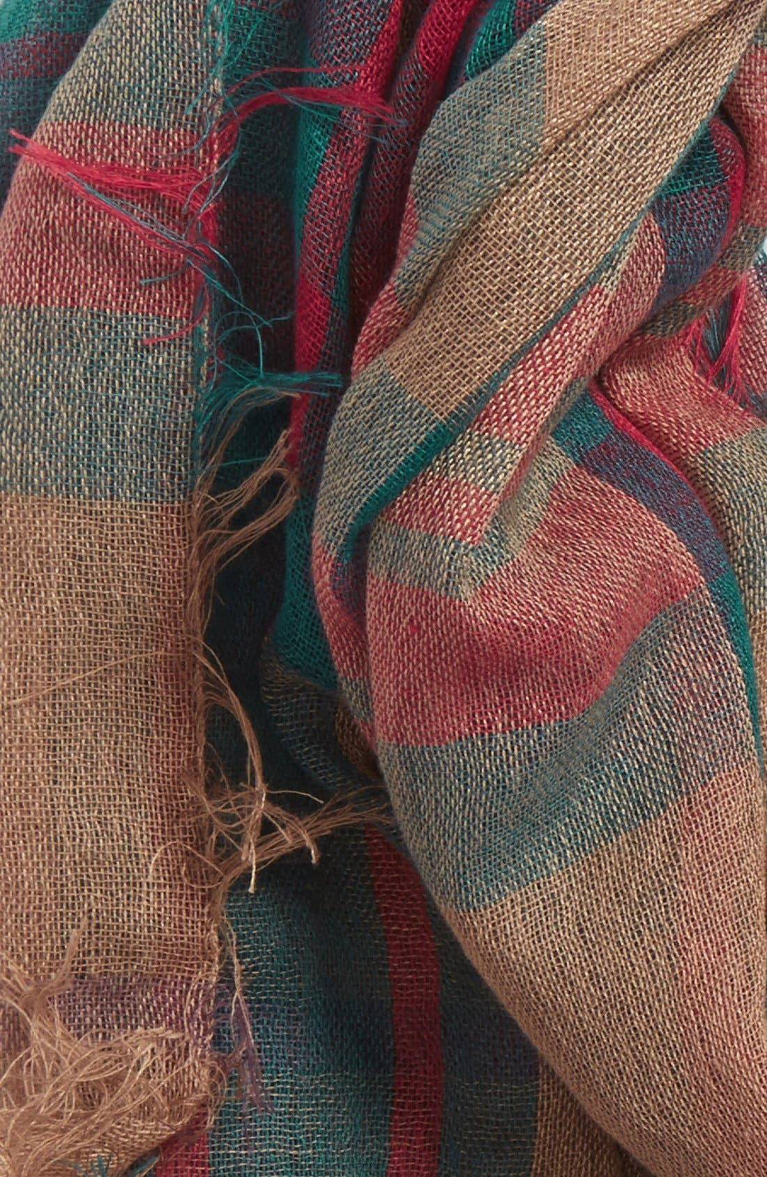 Plaid Infinity Scarf,                             Alternate thumbnail 6, color,