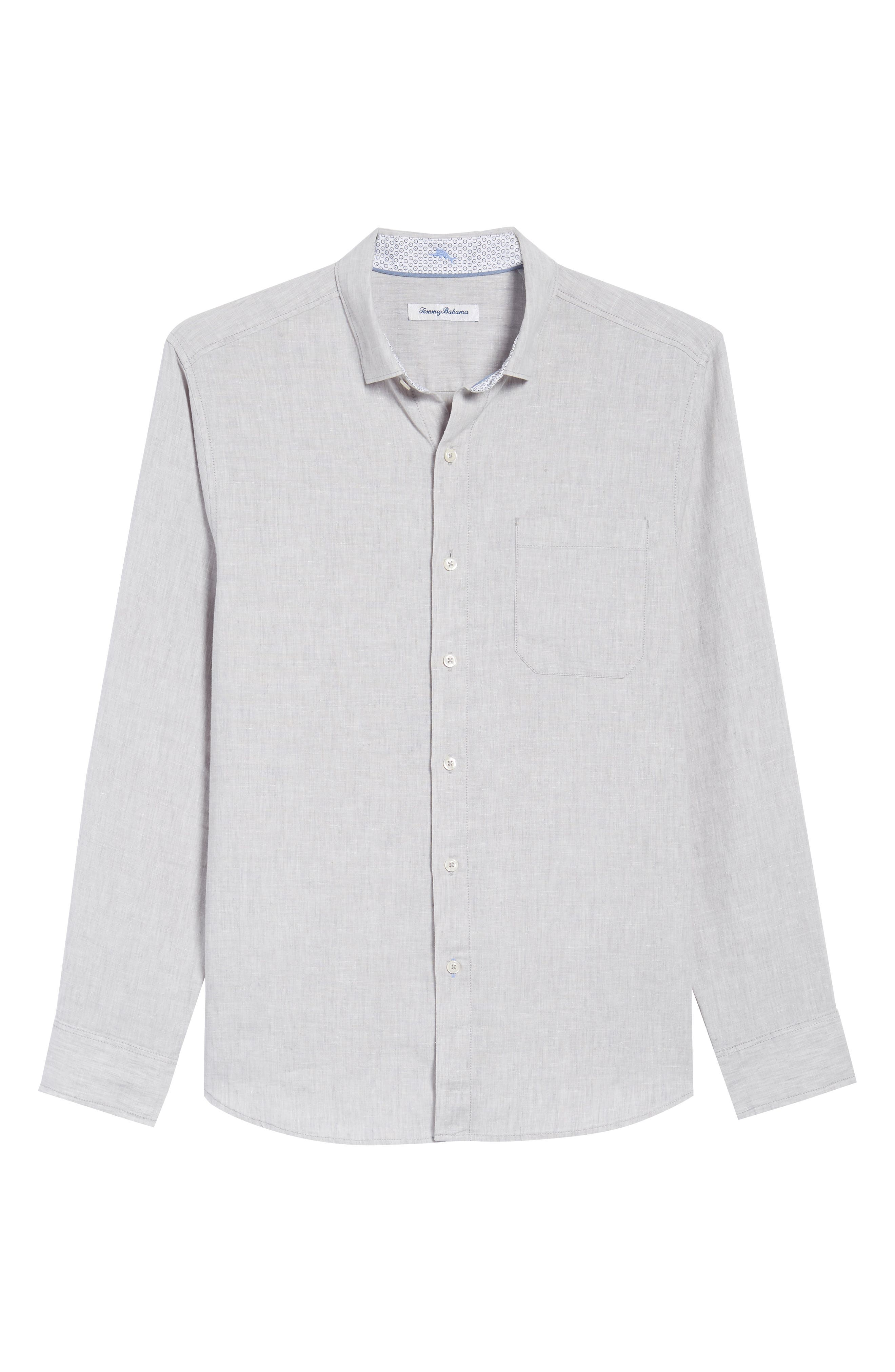 Lanai Tides Linen Blend Sport Shirt,                             Alternate thumbnail 6, color,                             020