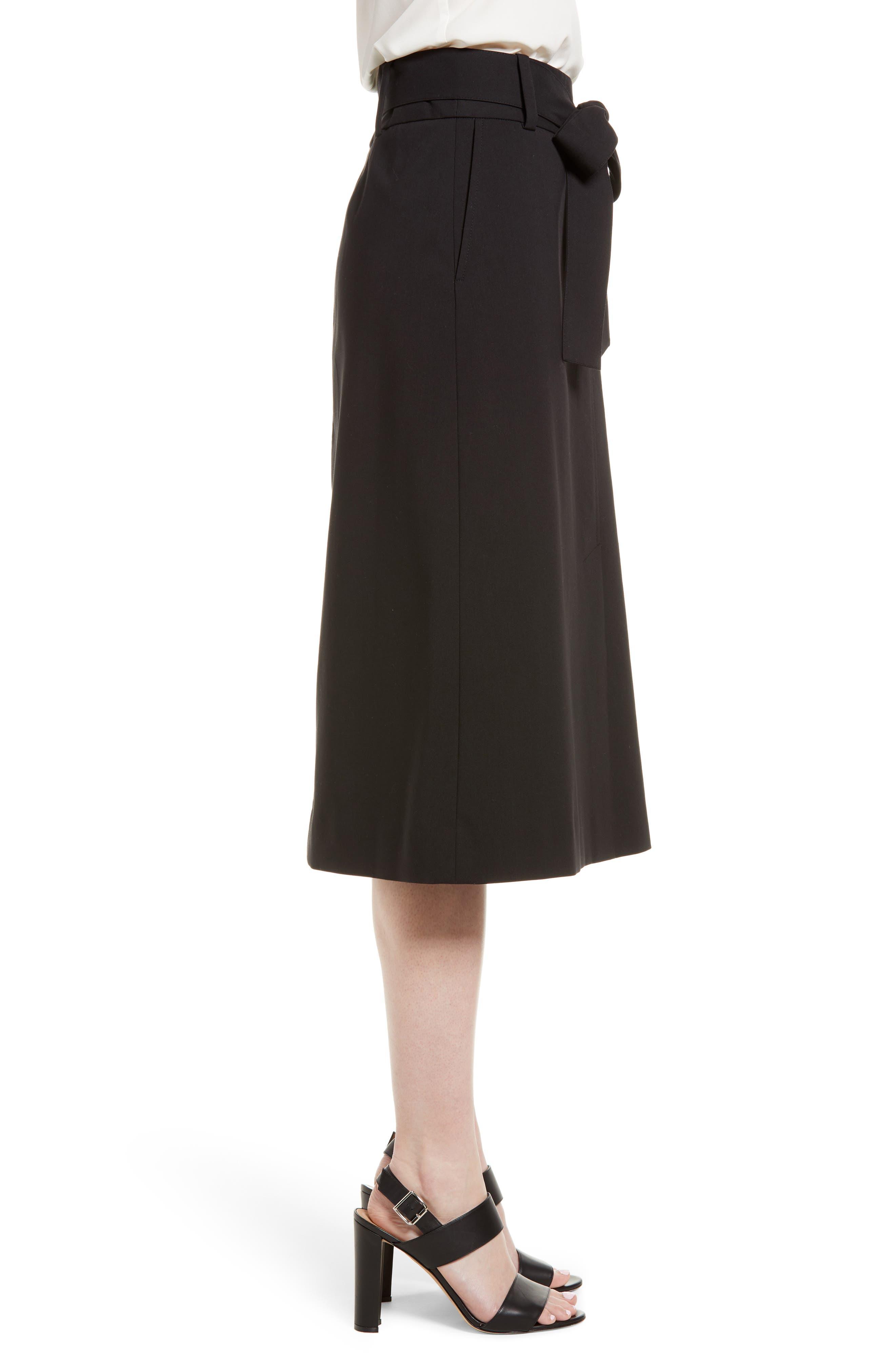 Tie Waist Skirt,                             Alternate thumbnail 3, color,                             001