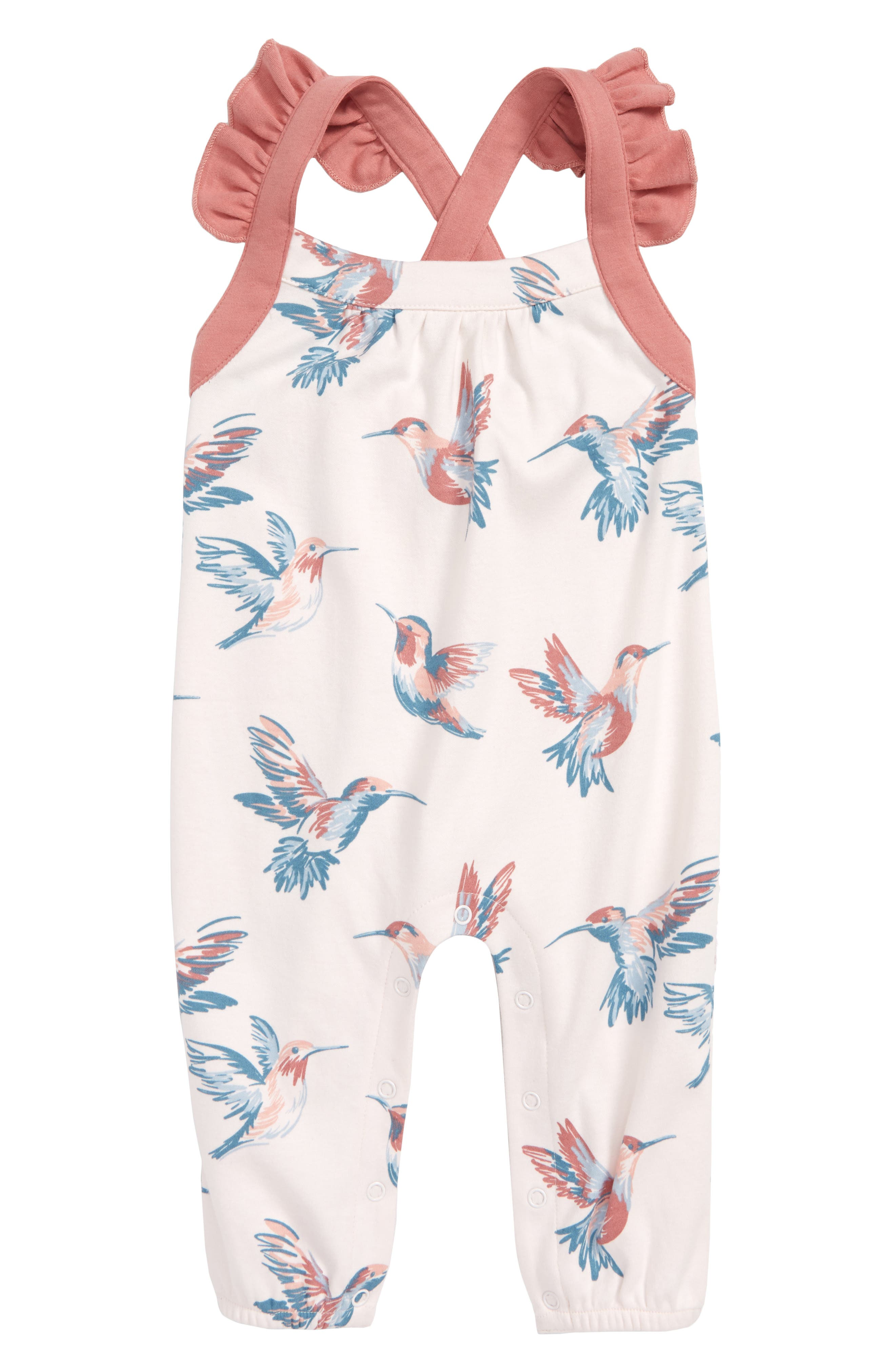 Hummingbirds Organic Cotton Romper,                             Main thumbnail 1, color,                             100