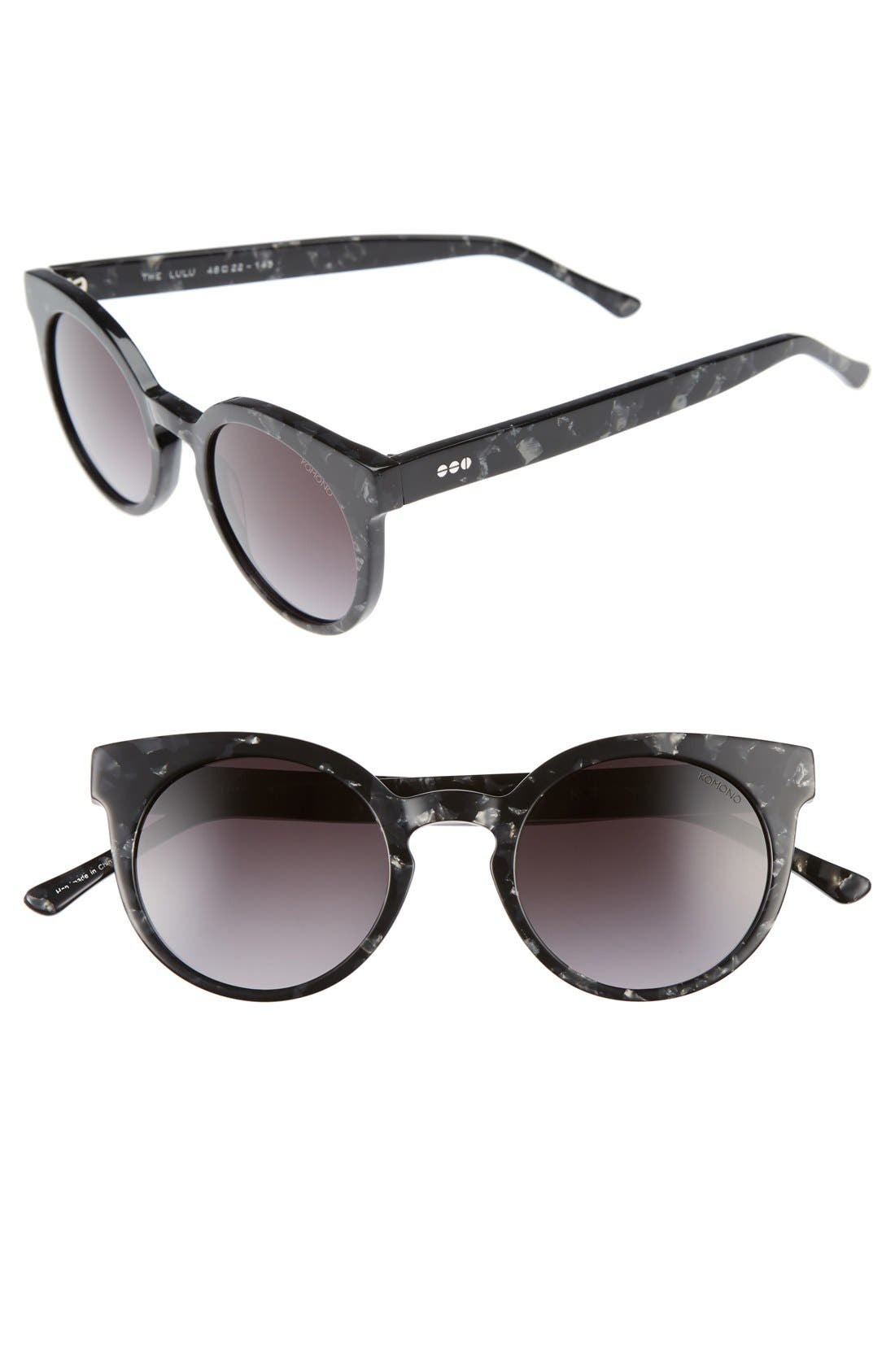 Lulu 48mm Sunglasses,                         Main,                         color, 001