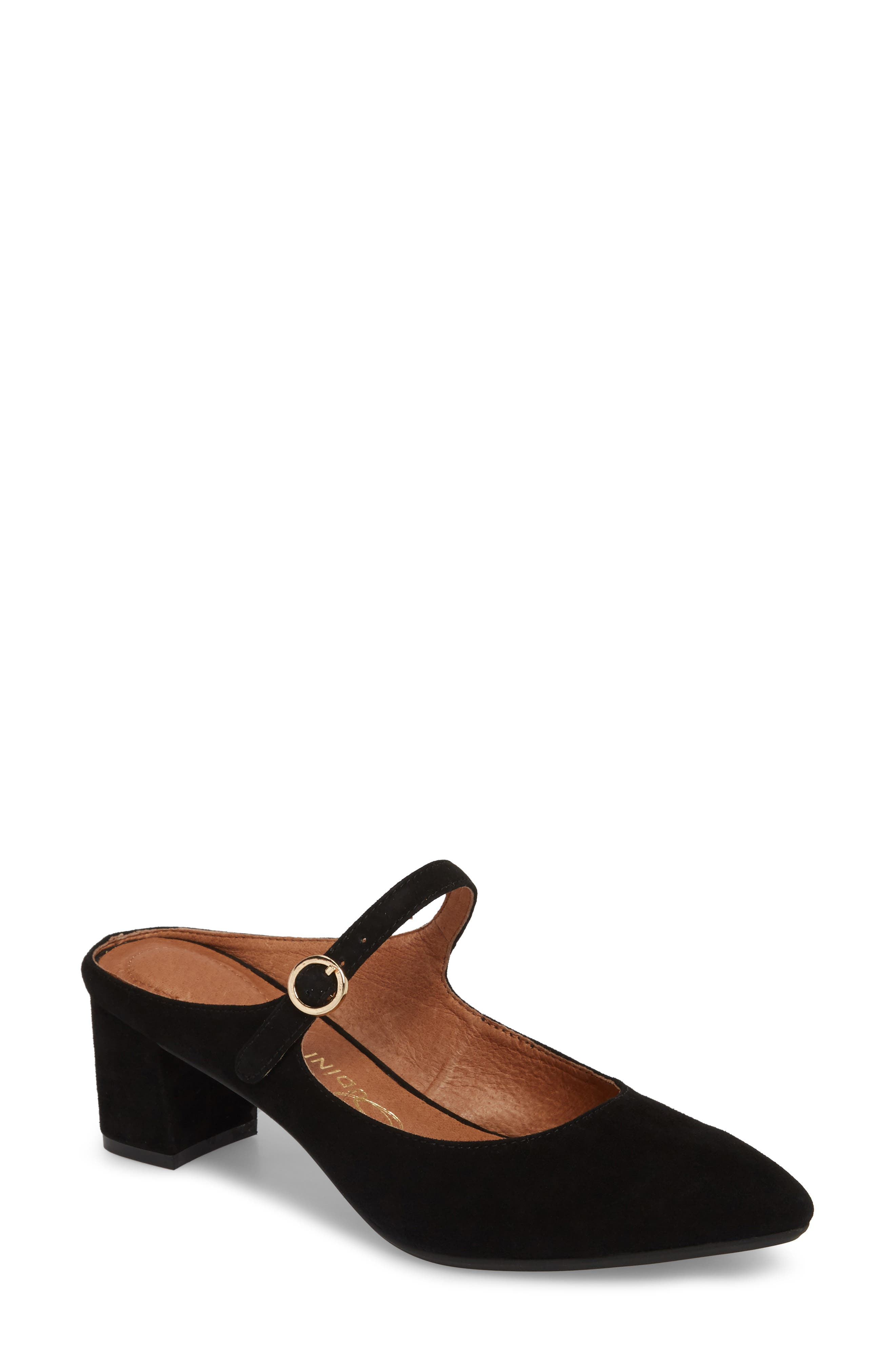 Barletta Mary Jane Mule,                             Main thumbnail 1, color,                             BLACK SUEDE