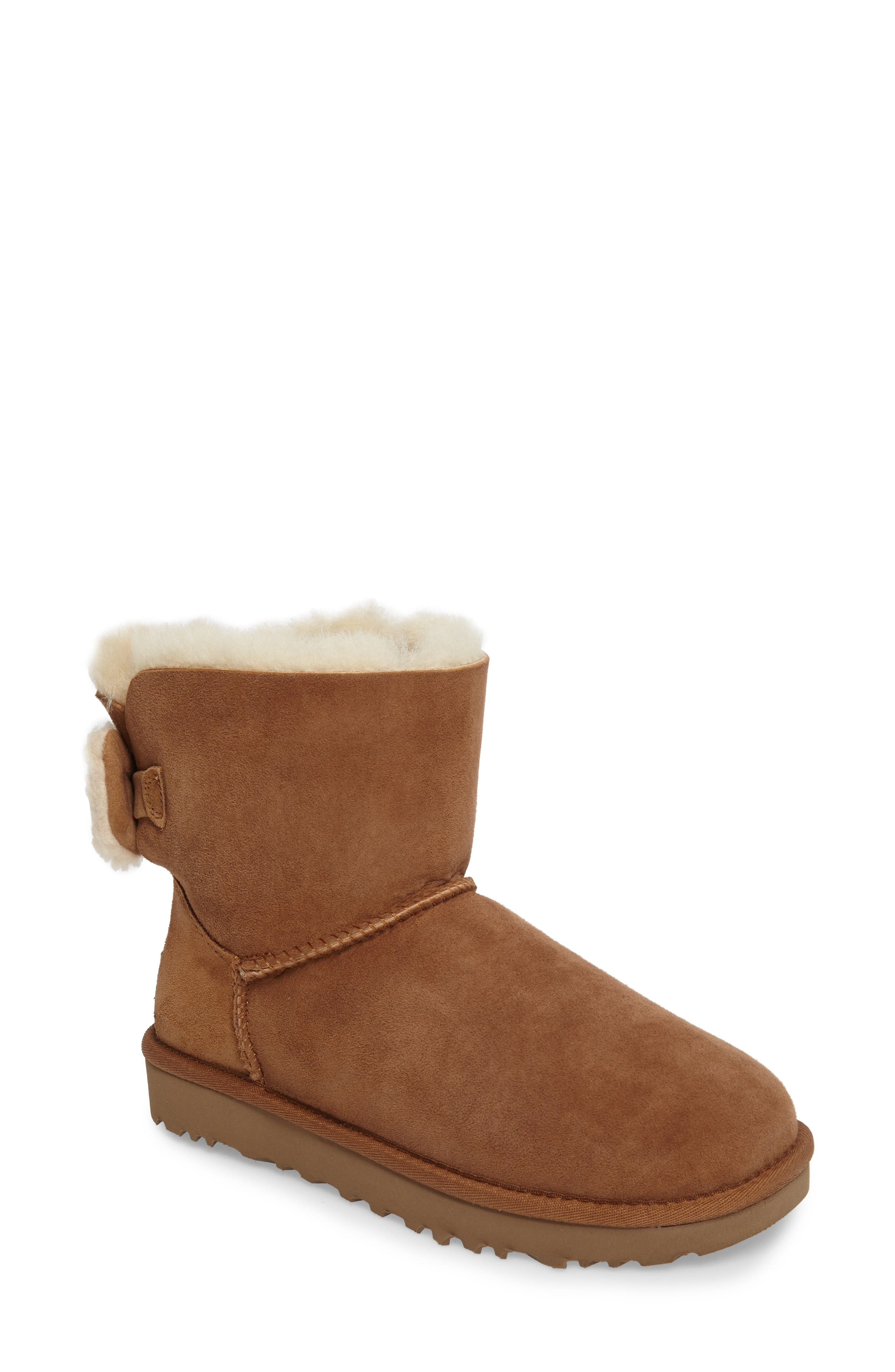 Arielle Genuine Shearling Bootie,                             Main thumbnail 2, color,