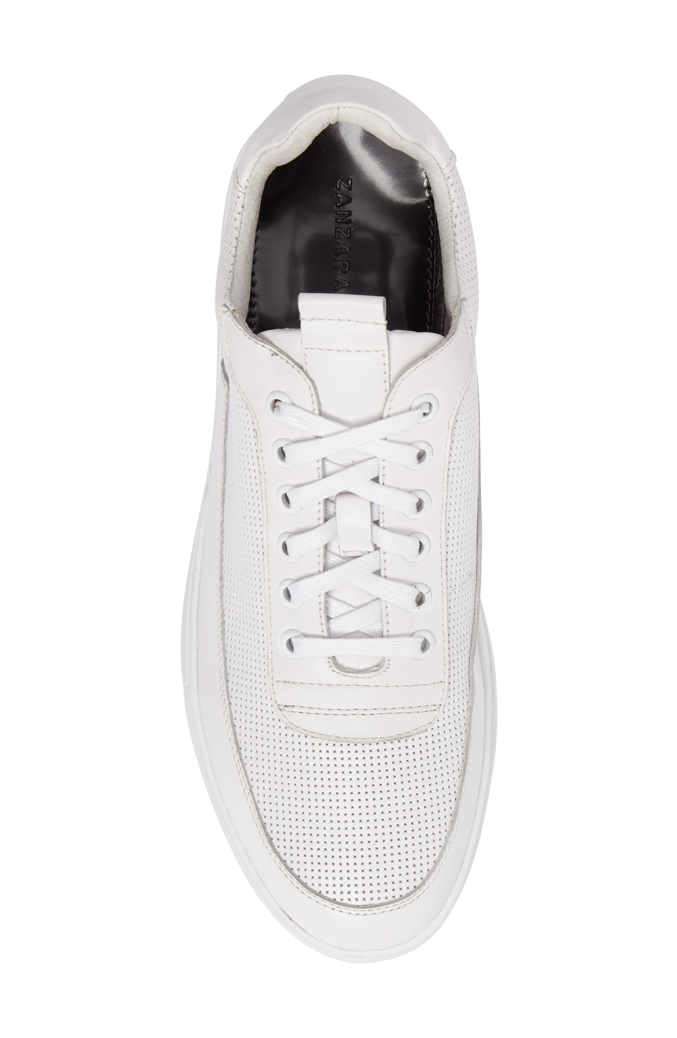 Harmony Sneaker,                             Alternate thumbnail 5, color,                             WHITE LEATHER