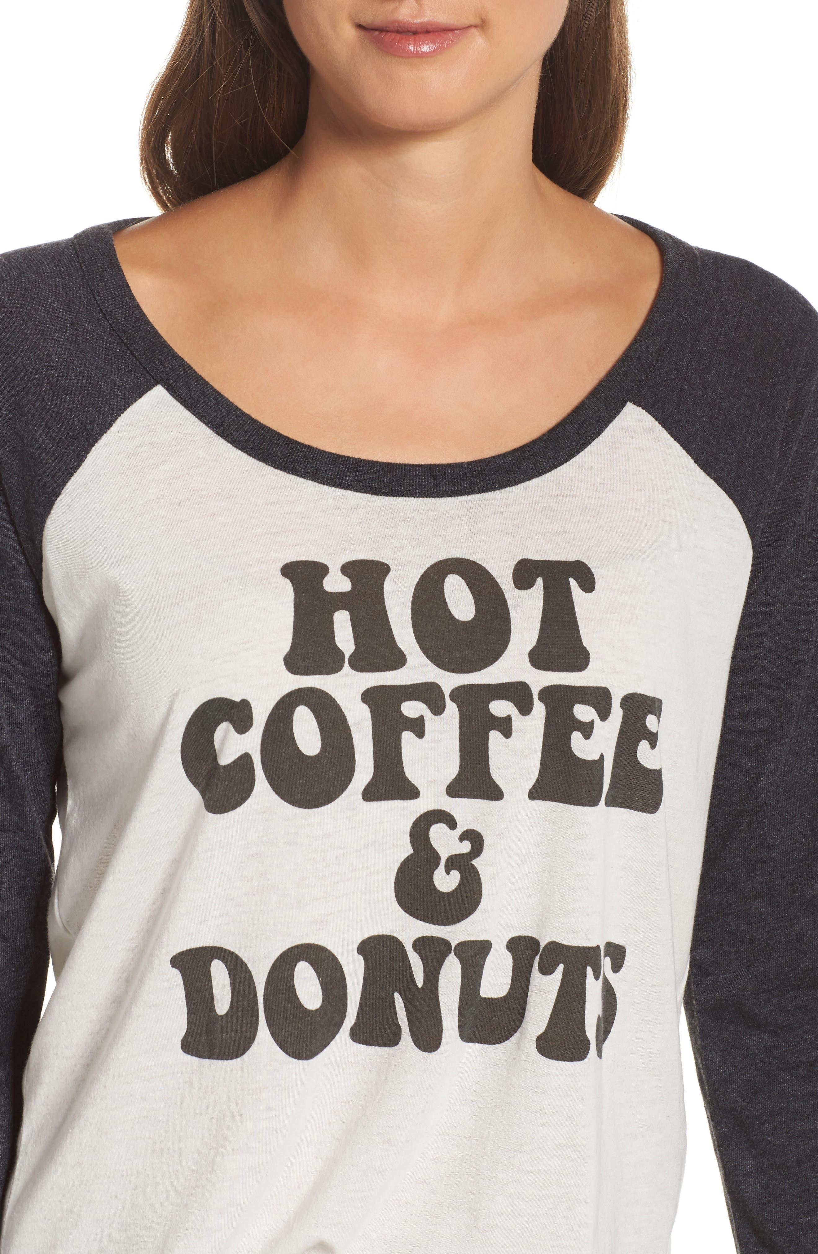Hot Coffee & Donuts Raglan Tee,                             Alternate thumbnail 4, color,