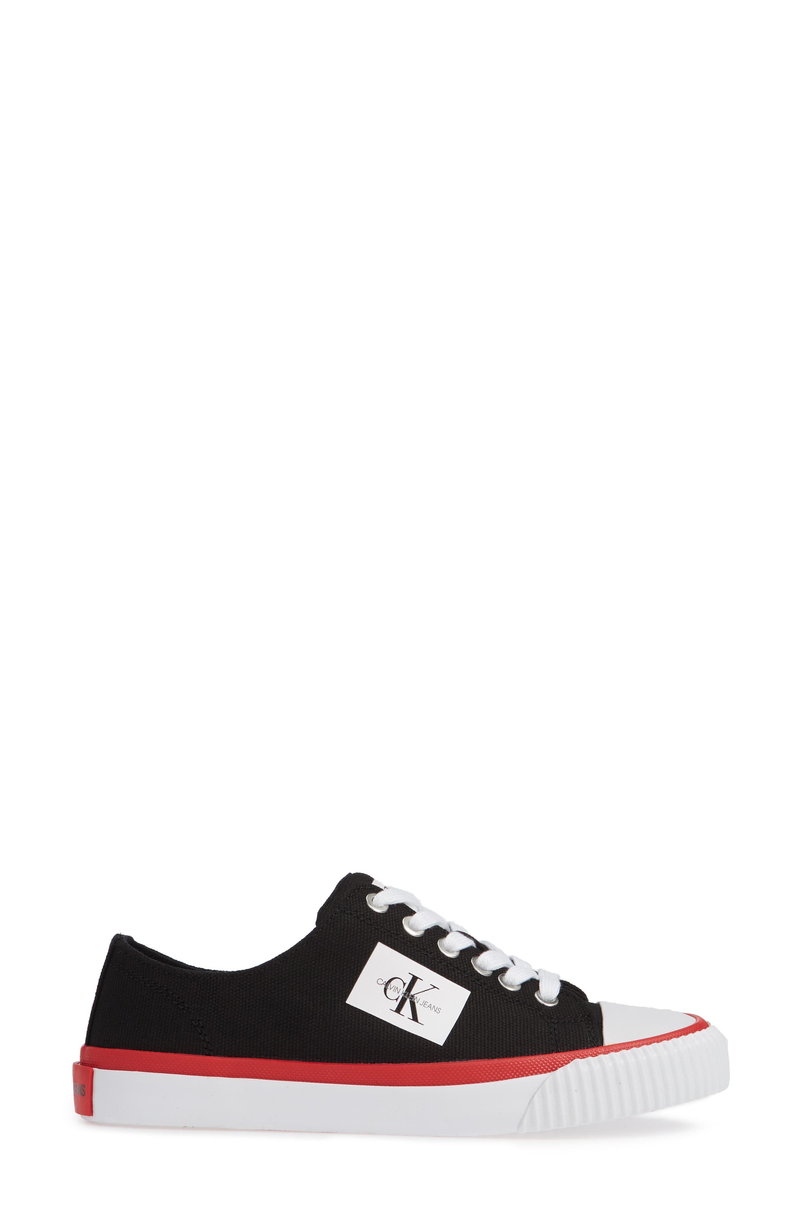 Ivory Lace-Up Sneaker,                             Alternate thumbnail 3, color,                             001