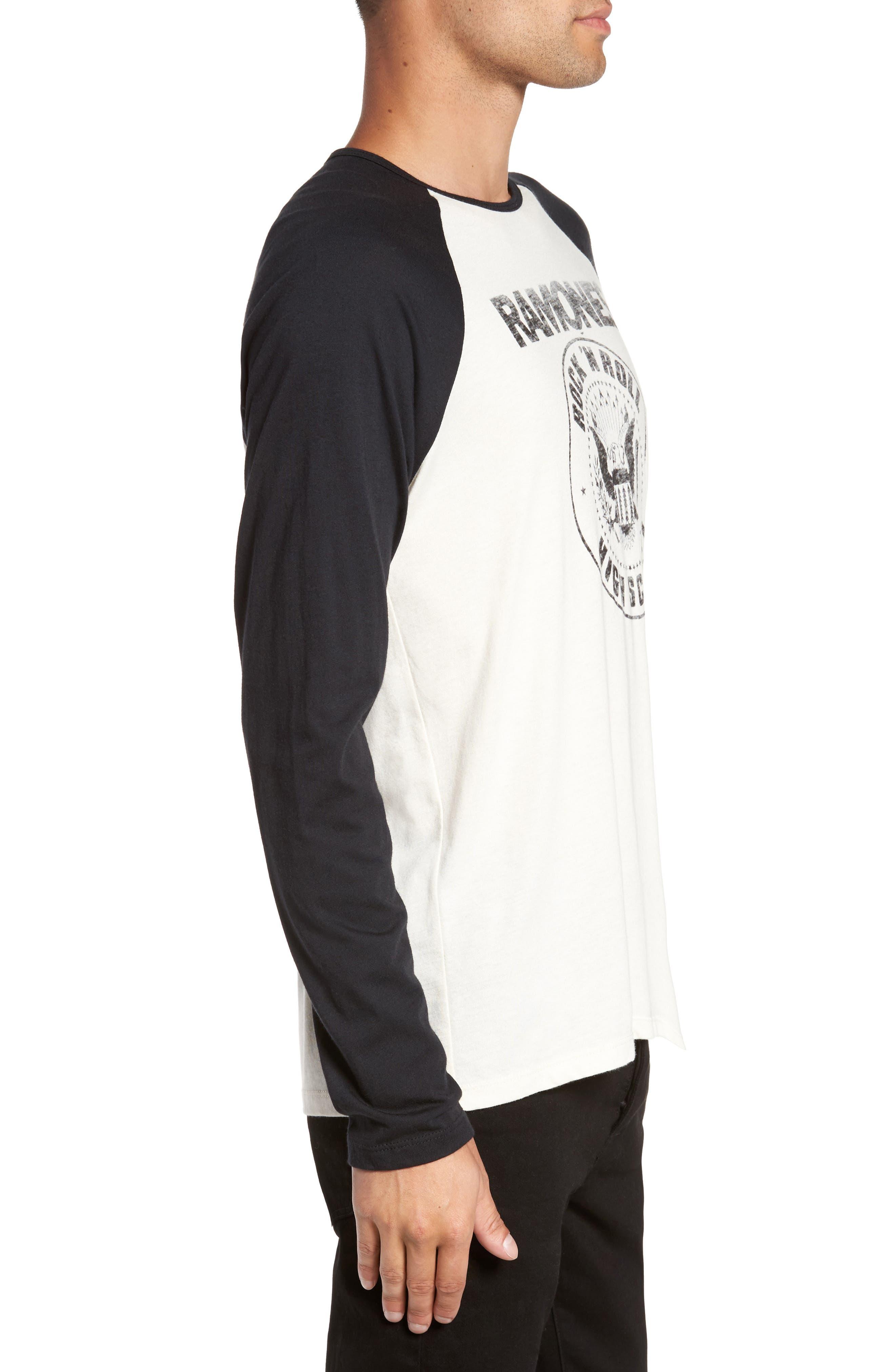 Ramones Rock N Roll High School Graphic T-Shirt,                             Alternate thumbnail 3, color,                             103