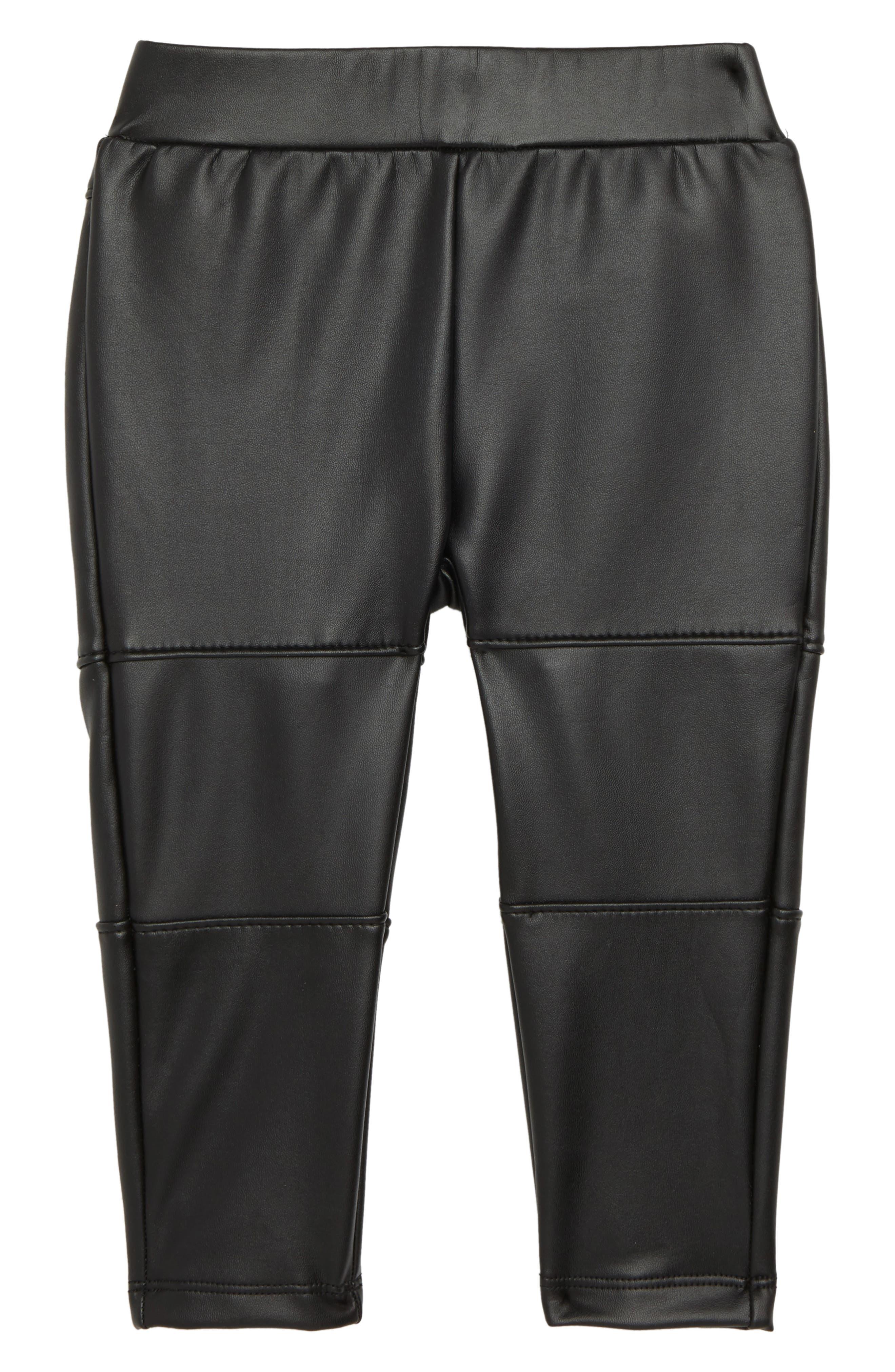 Faux Leather Leggings,                             Main thumbnail 1, color,                             001