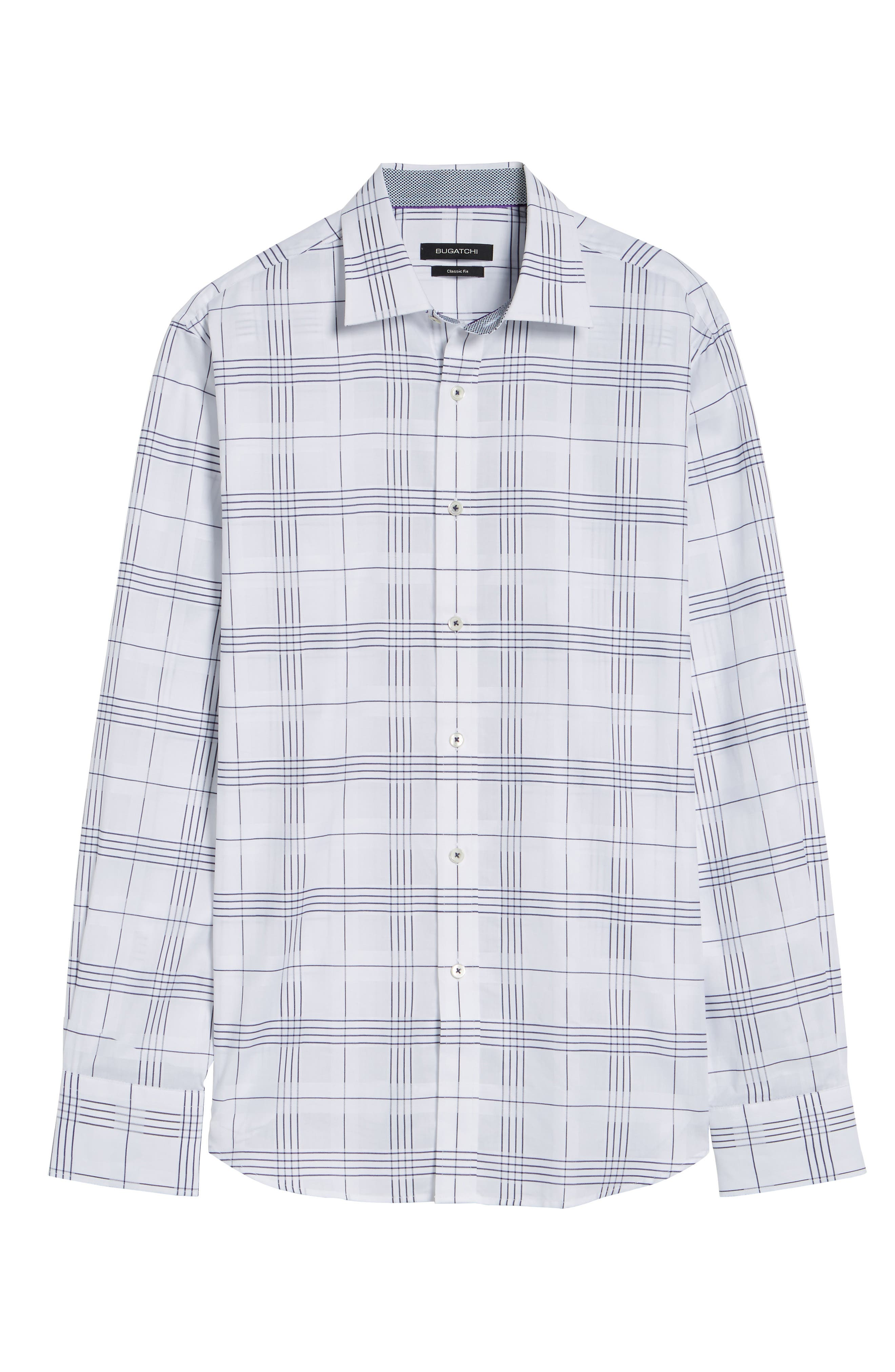 Classic Fit Check Sport Shirt,                             Alternate thumbnail 6, color,                             100