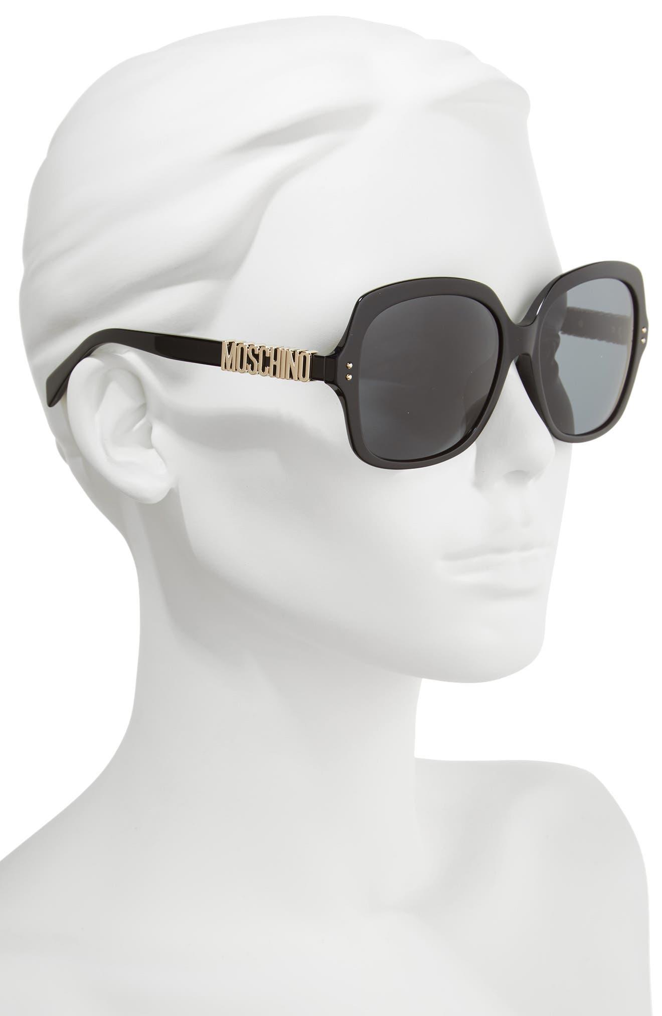 57mm Oversized Polarized Sunglasses,                             Alternate thumbnail 5, color,