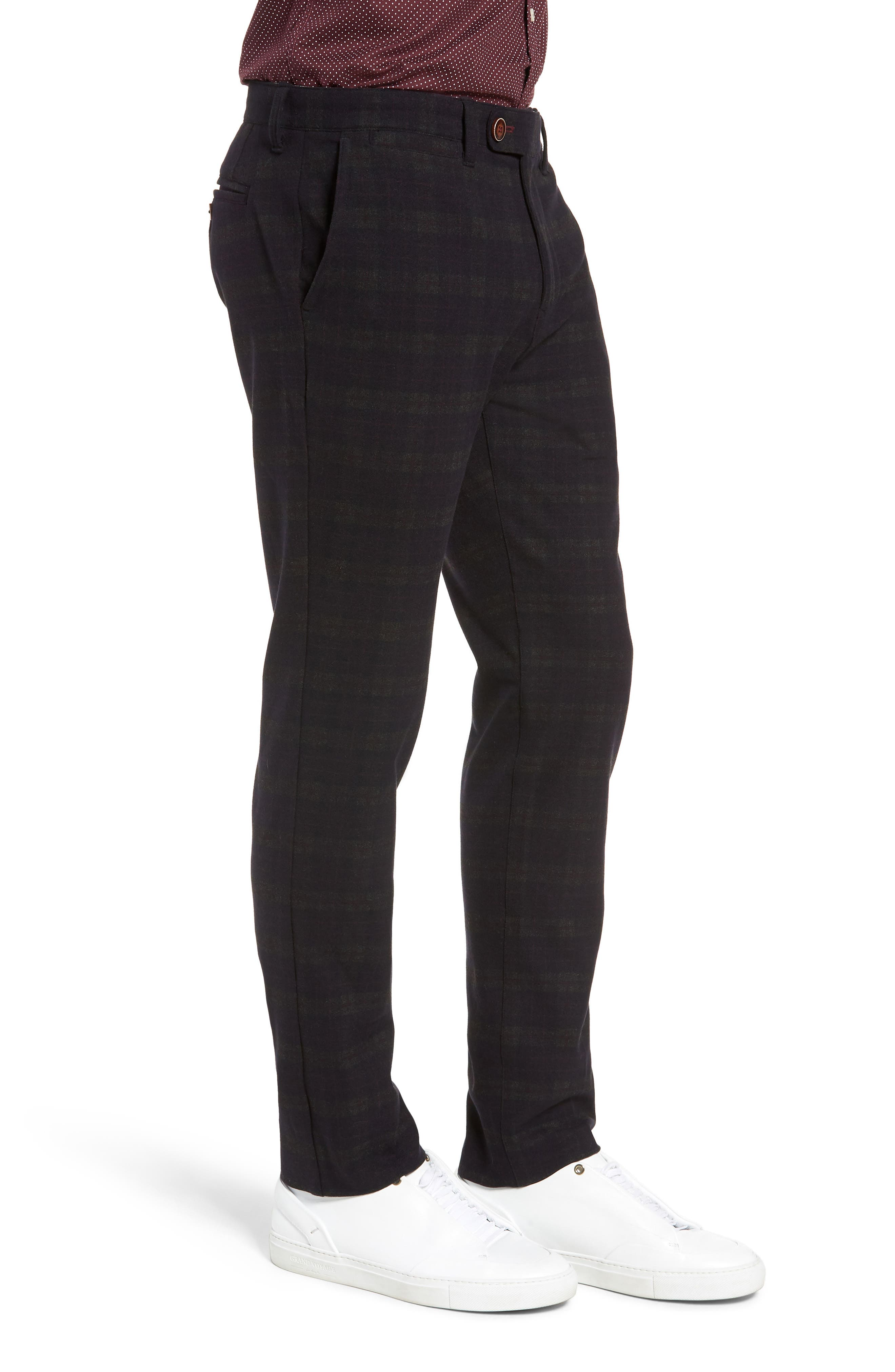 Thomas Straight Leg Chinos,                             Alternate thumbnail 3, color,                             MIDNIGHT/ RED/ CHARCOAL