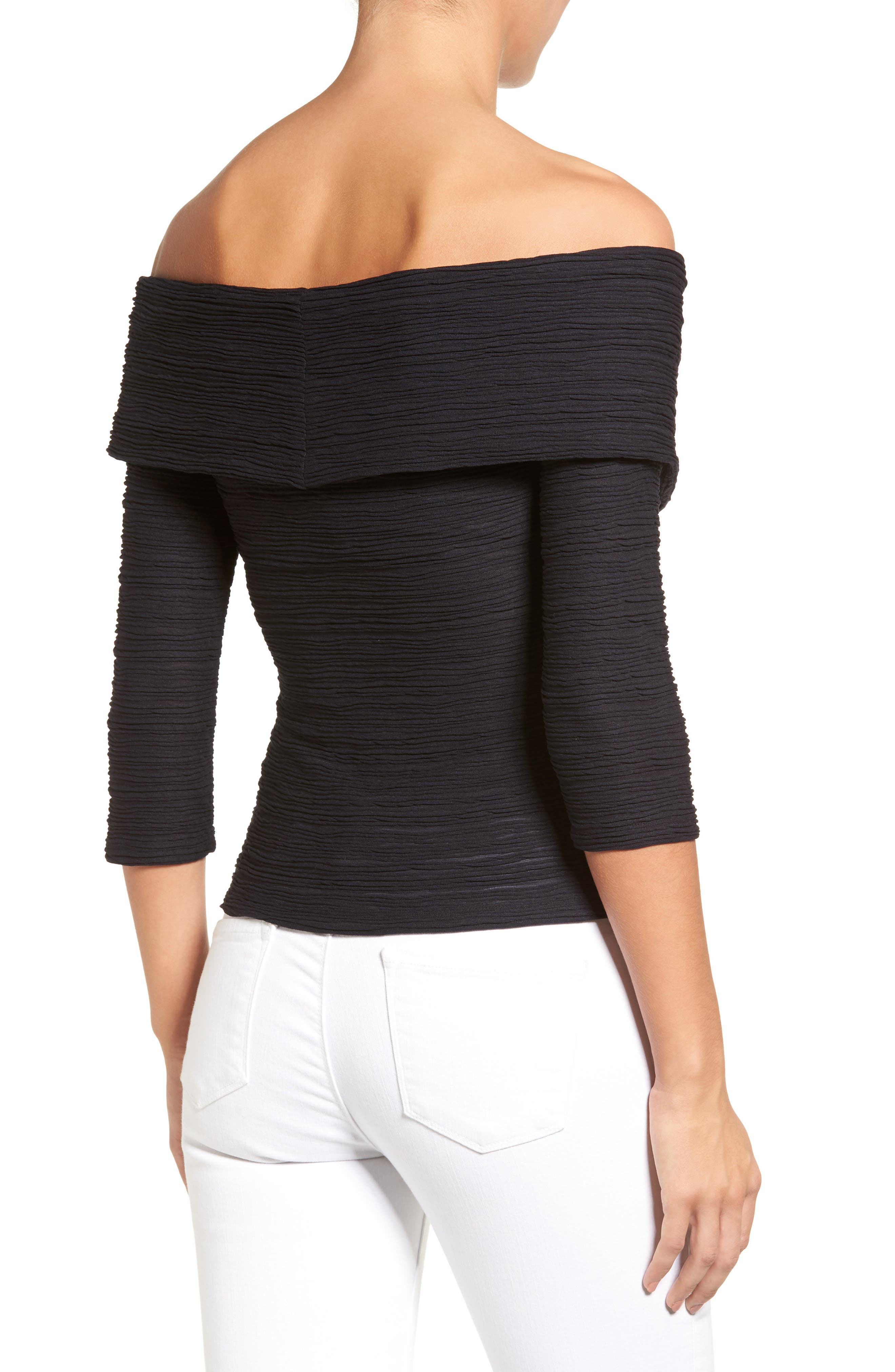 Crossover Stripe Top,                             Alternate thumbnail 5, color,