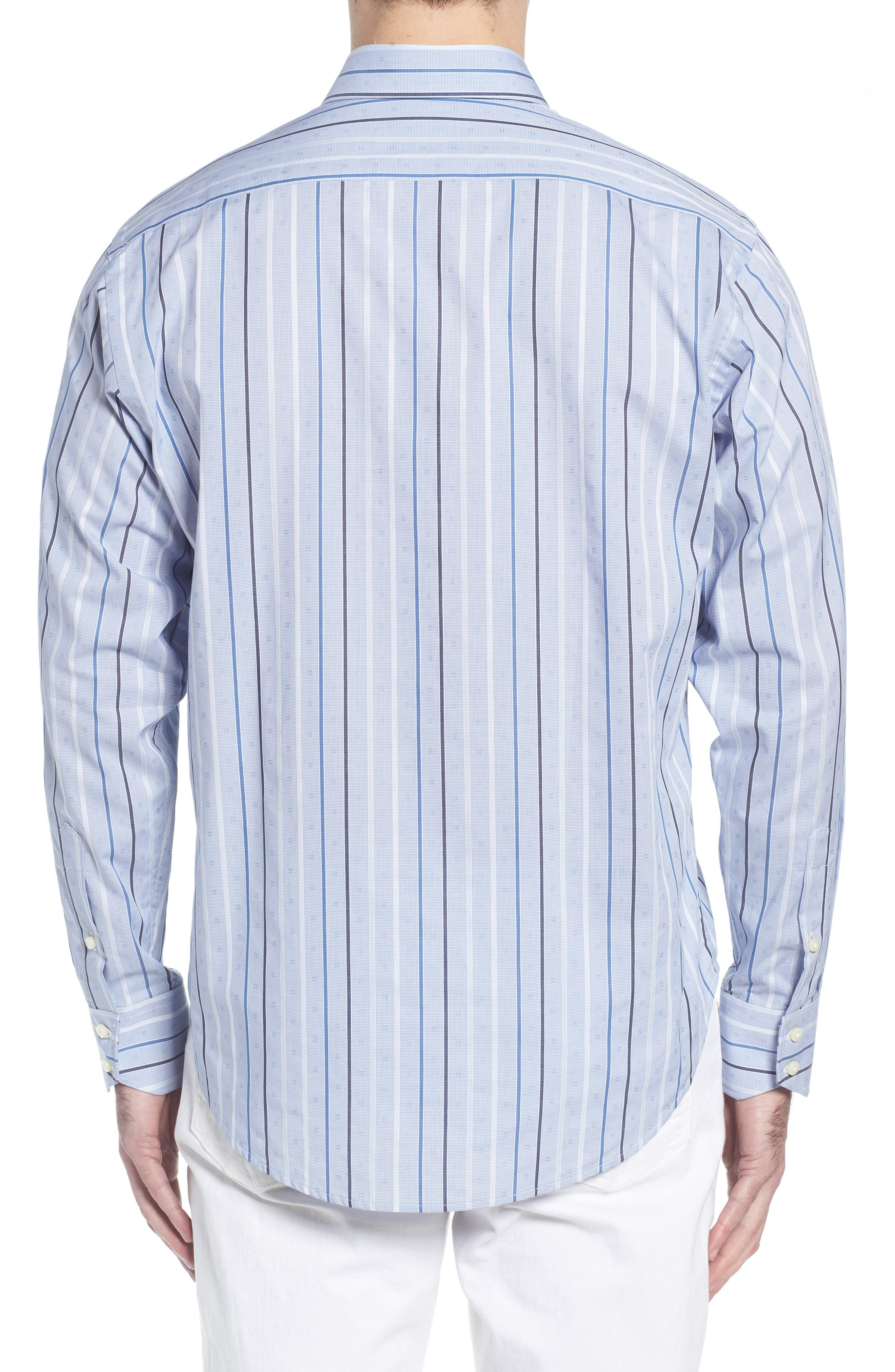 THOMAS DEAN,                             Regular Fit Check Sport Shirt,                             Alternate thumbnail 2, color,                             400