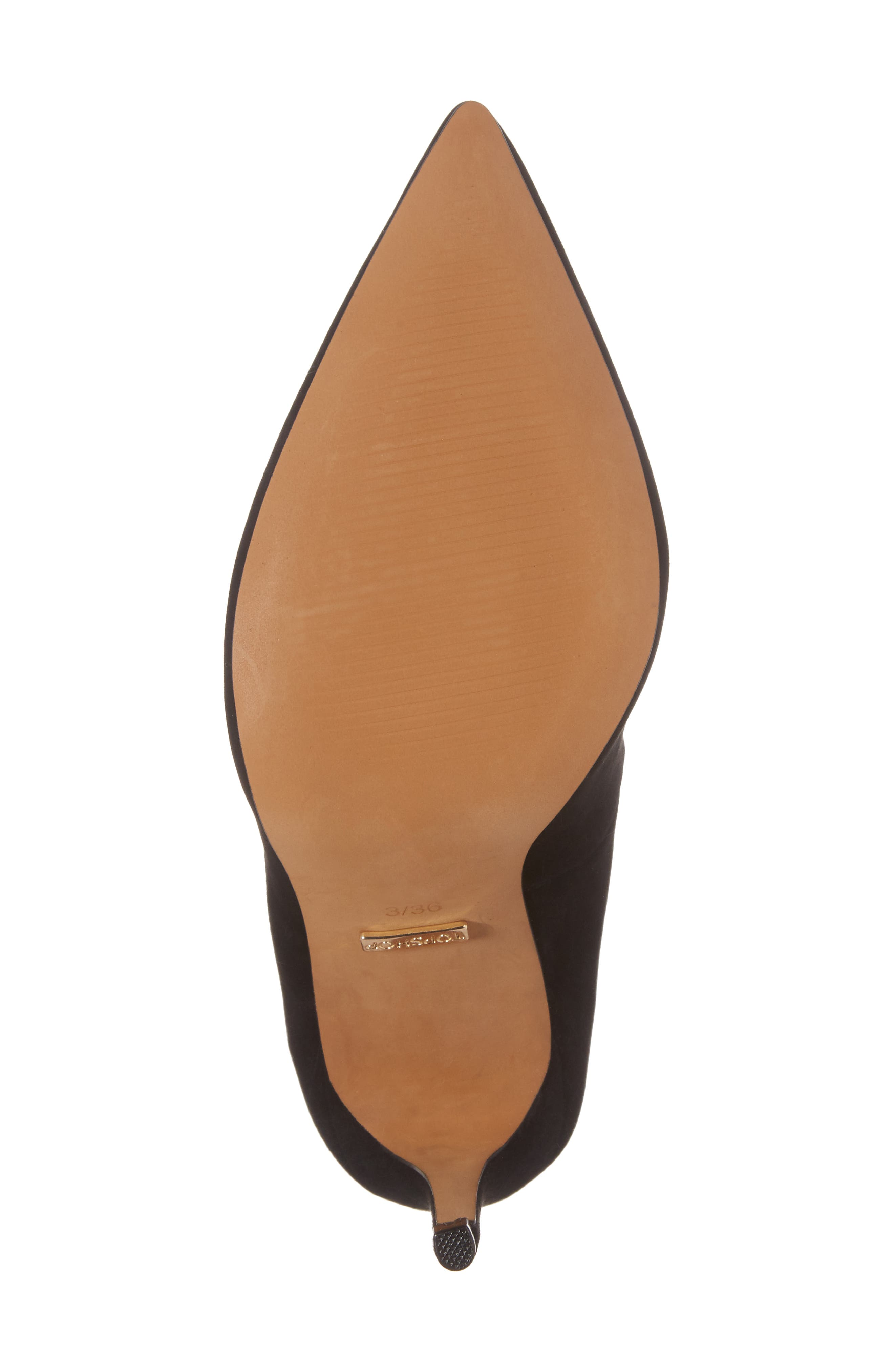 Grammer Pointy Toe Pump,                             Alternate thumbnail 6, color,                             BLACK LEATHER