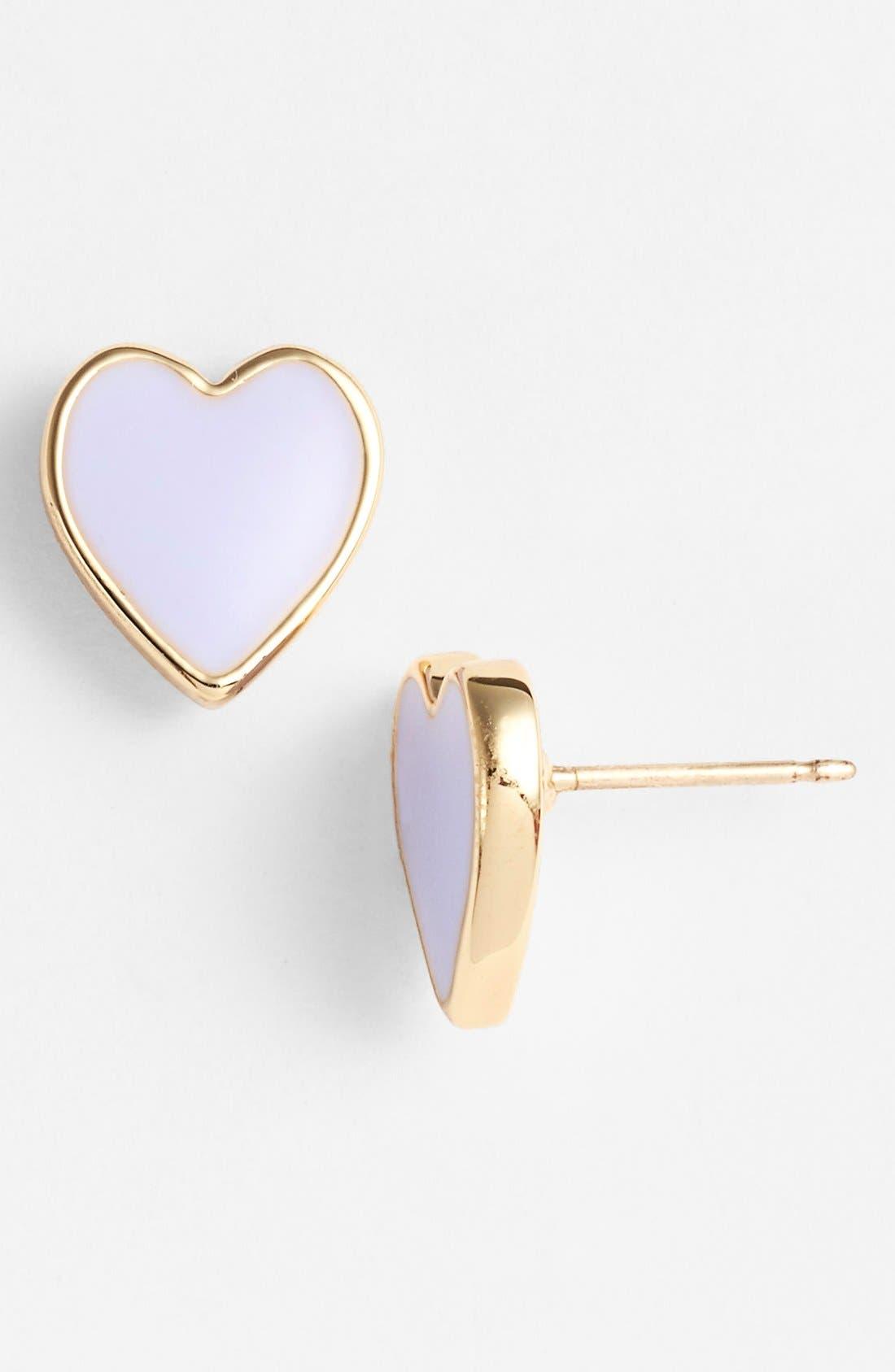 'dear valentine' stud earrings,                             Main thumbnail 1, color,                             500