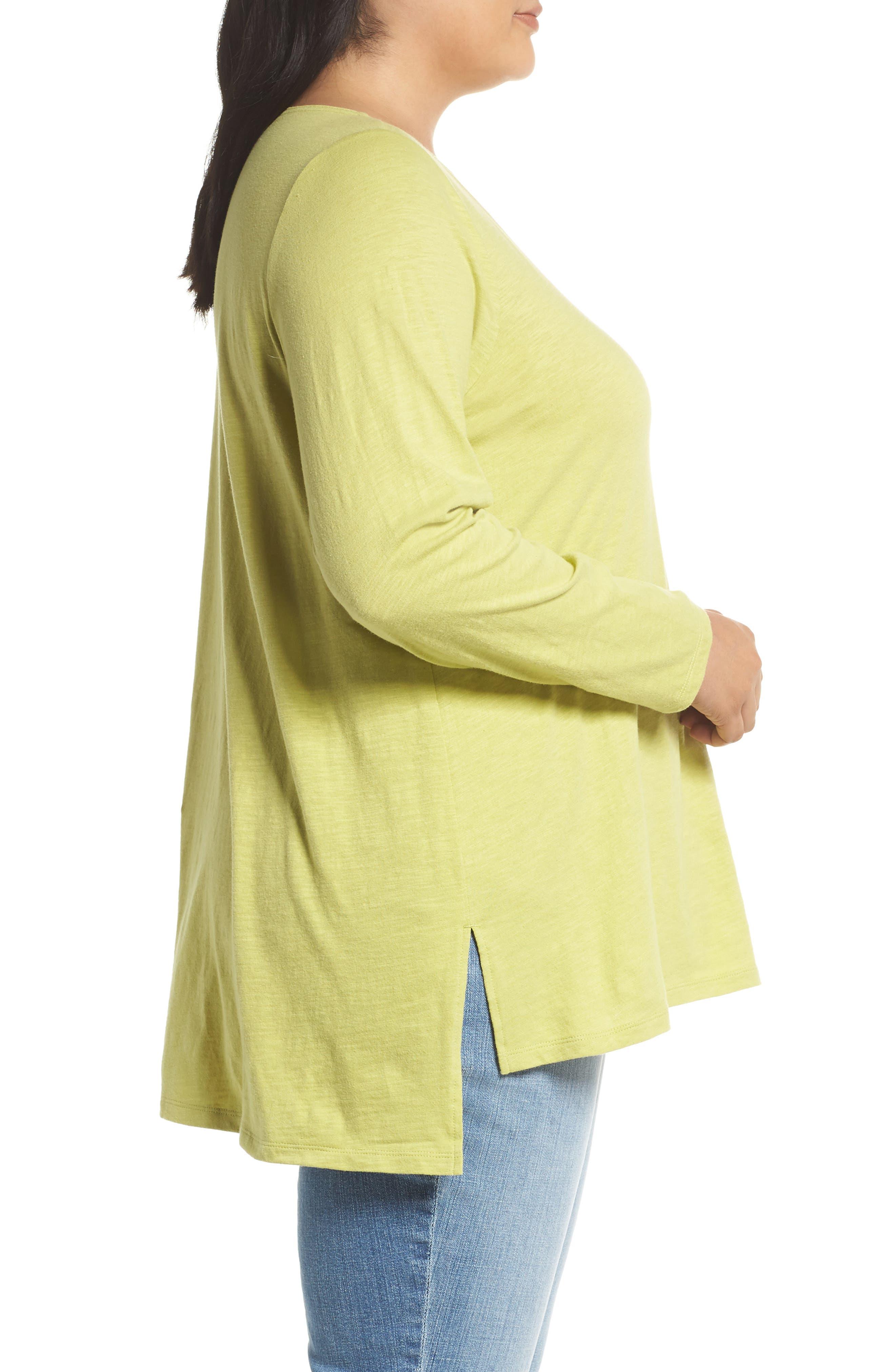 Organic Cotton Jersey Top,                             Alternate thumbnail 3, color,                             VERBENA