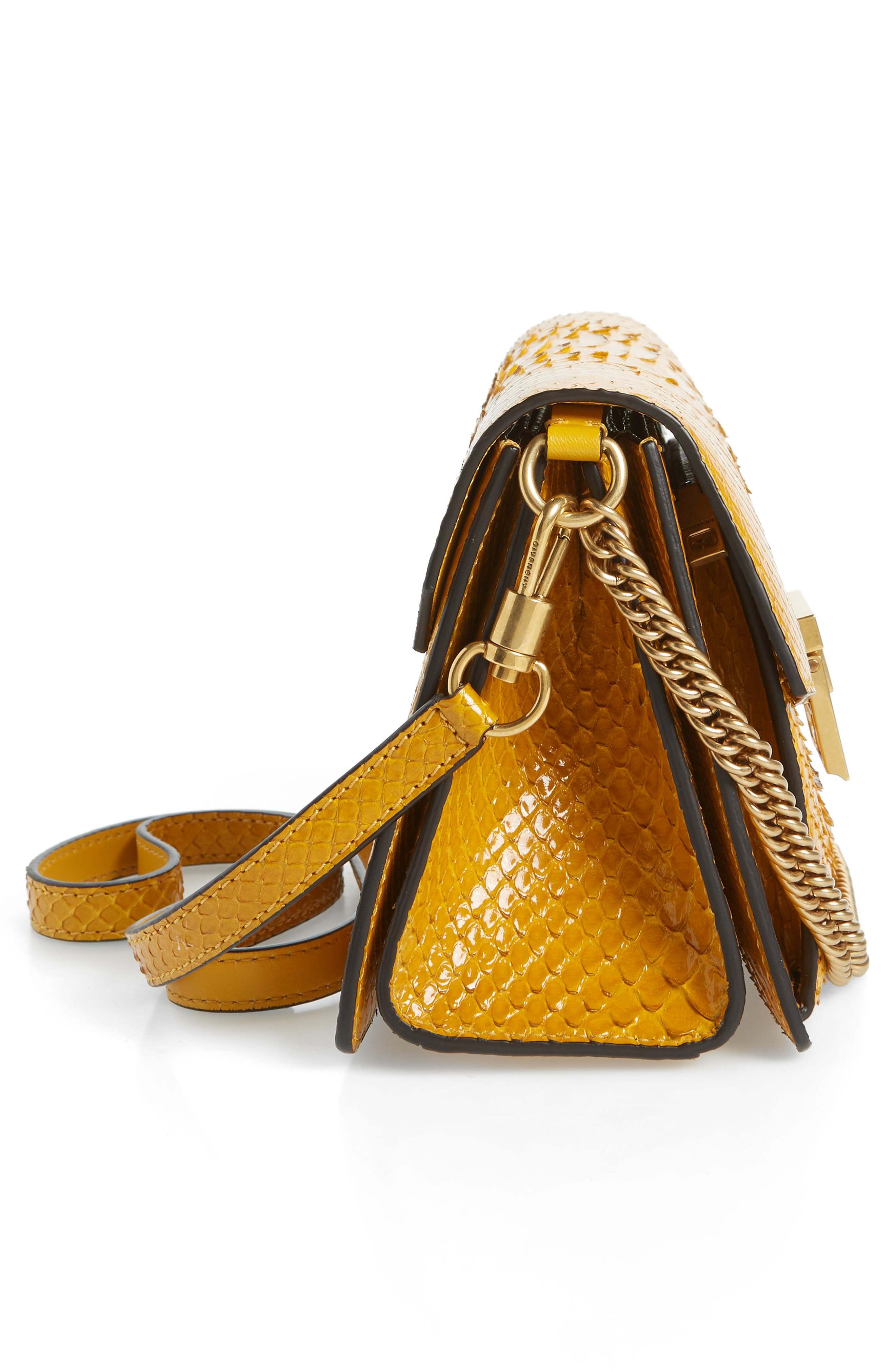 Small GV3 Genuine Python Shoulder Bag,                             Alternate thumbnail 5, color,                             GOLDEN