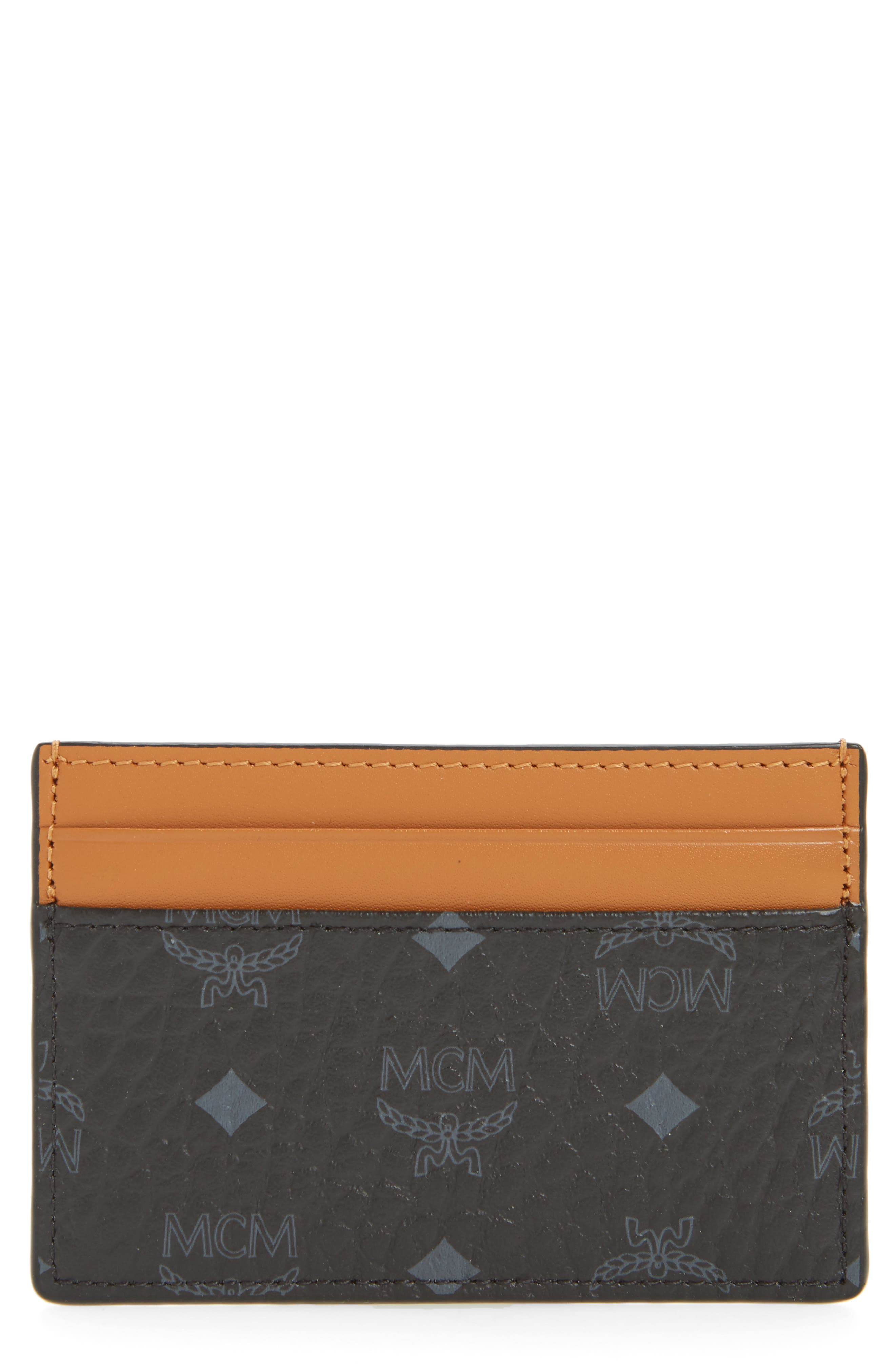 Claus Mini Faux Leather Card Case,                             Main thumbnail 1, color,                             001